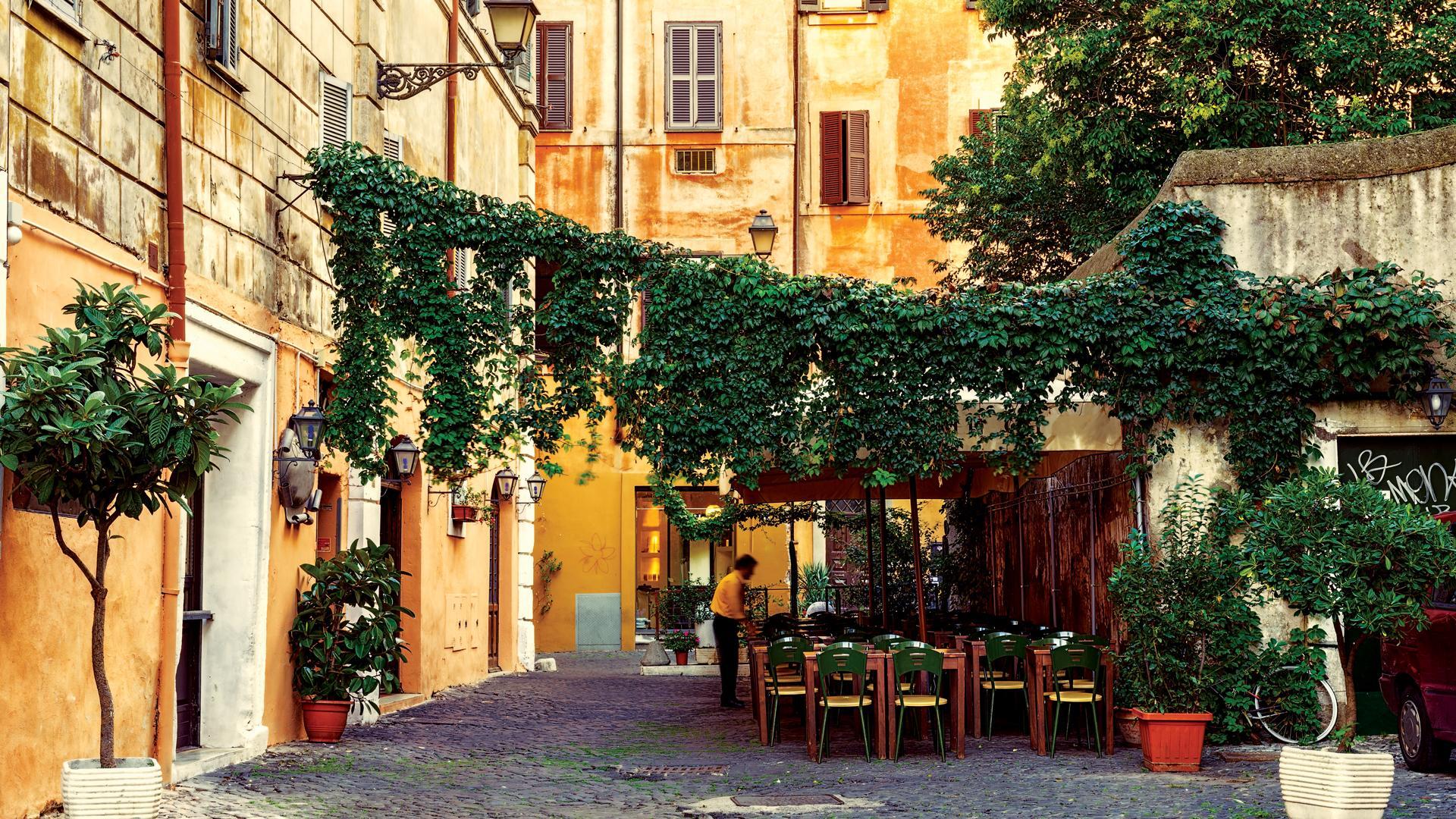 Rome restaurants; Trastevere
