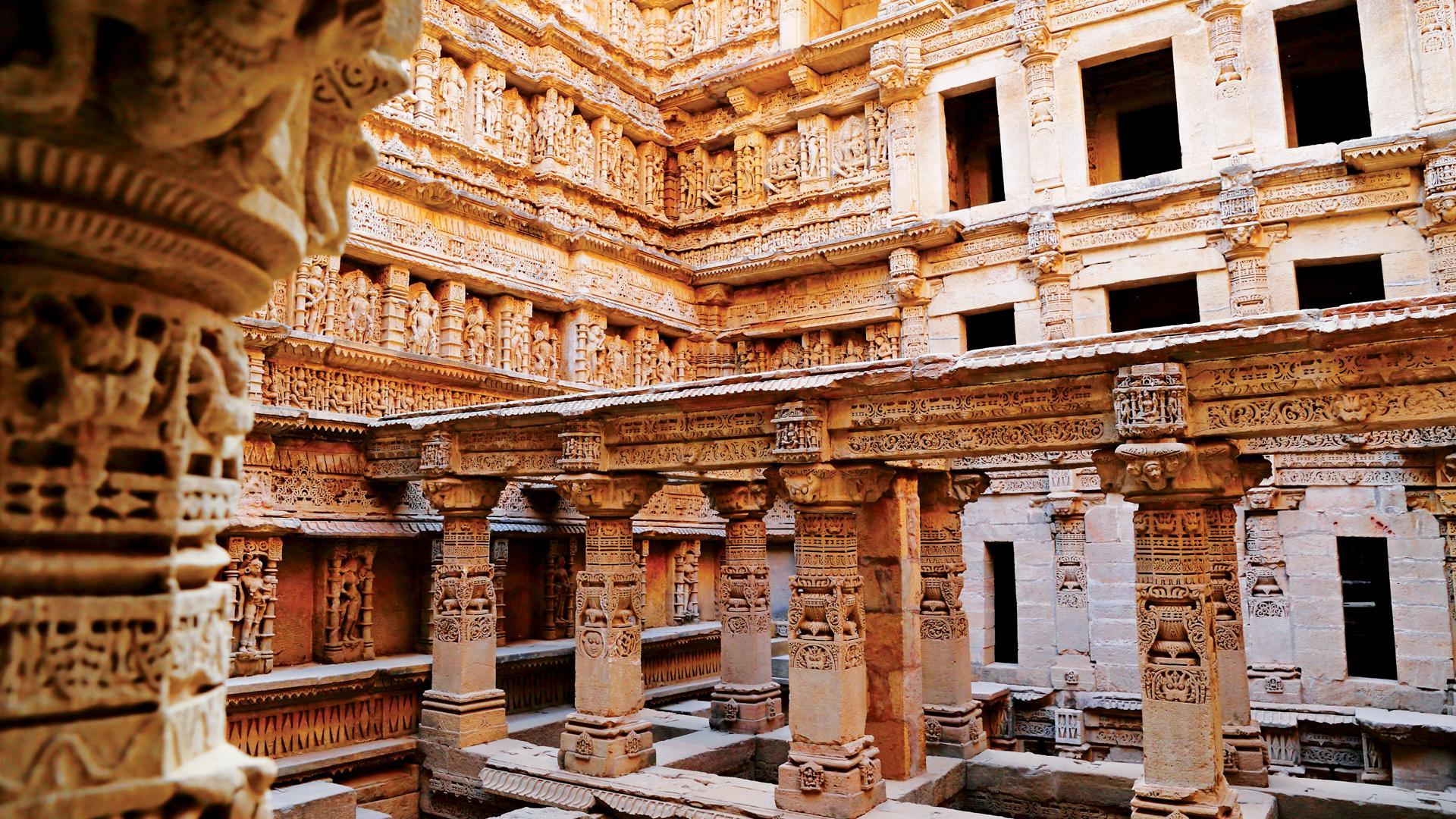 Rani-Ki-Vav stepwell in India.