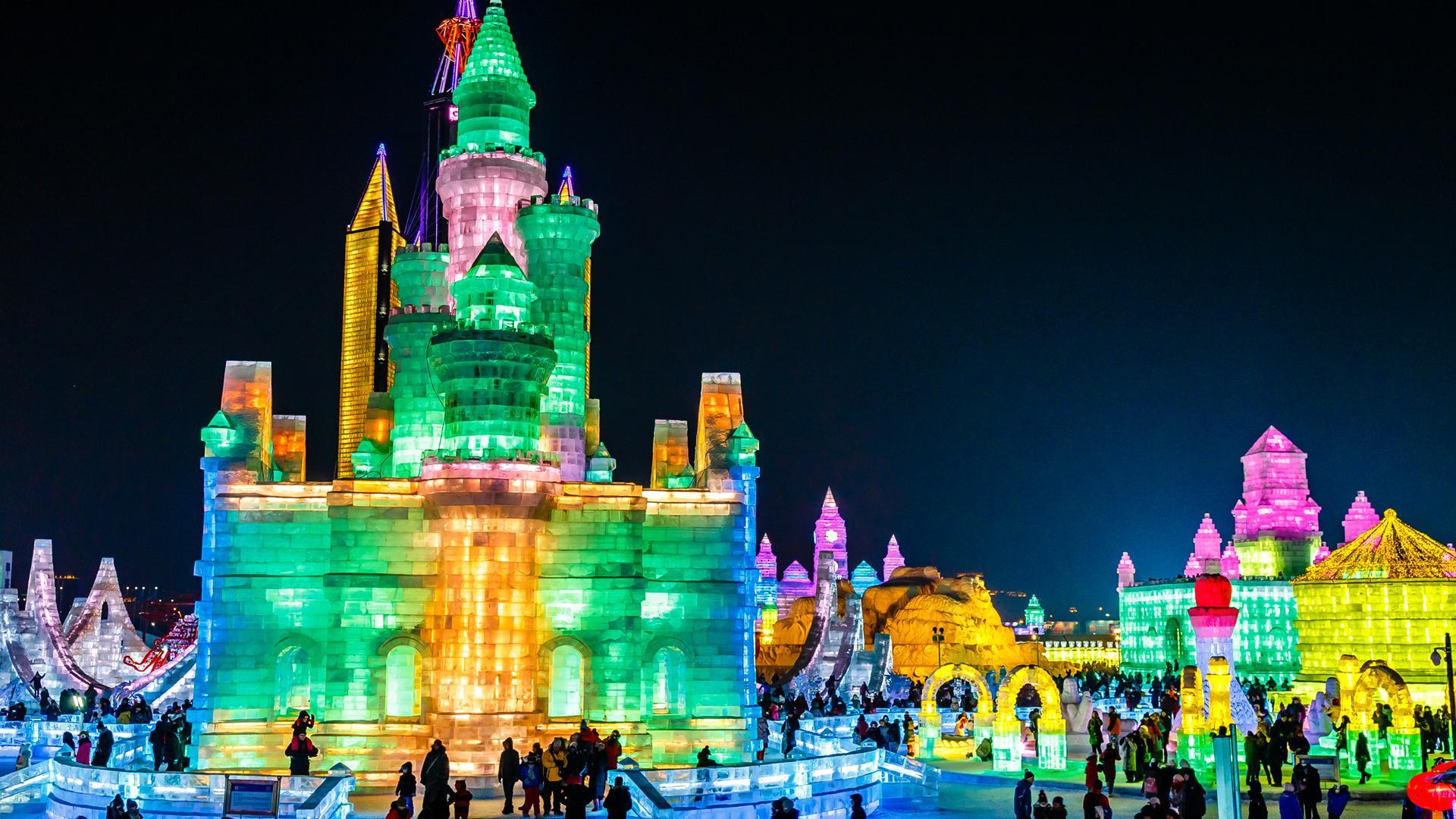 Ice sculpture festival, Harbin, China