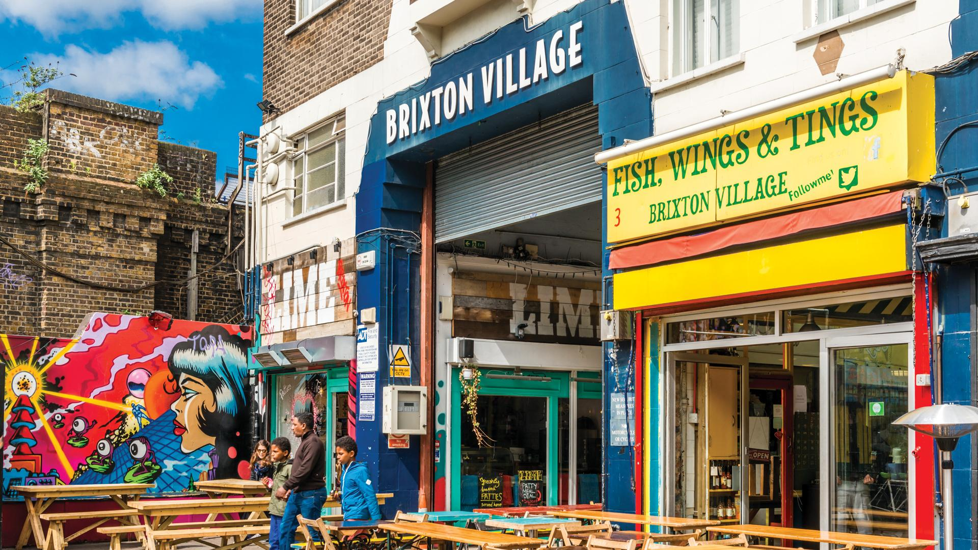 Fish, Wings and Tings at Brixton Village and Market Row, London, UK
