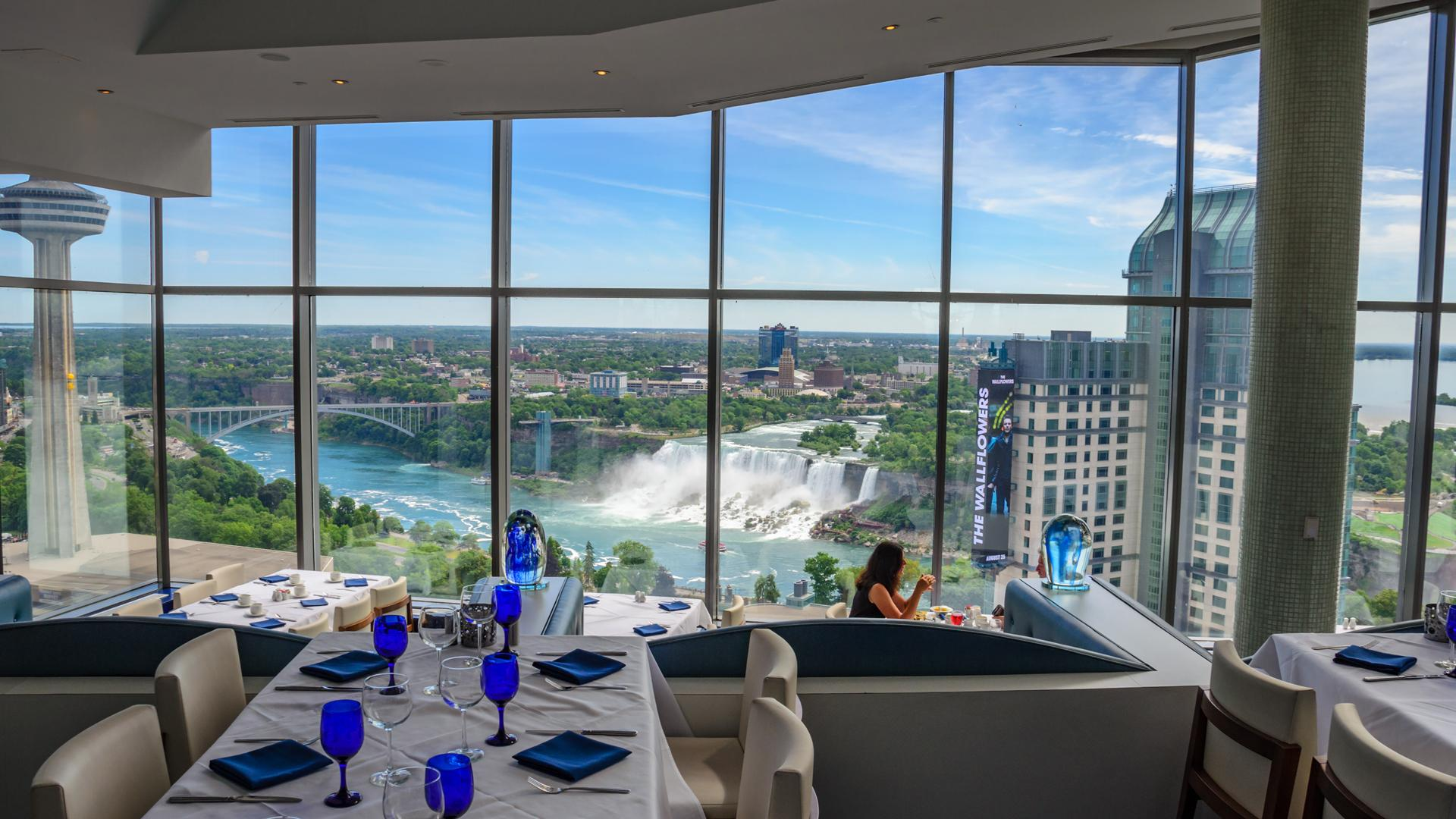 Watermark rooftop restaurant at the Hilton Niagara Falls