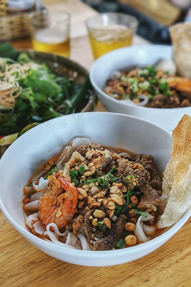 Mi Quang Noodles in Da nang, Vietnam