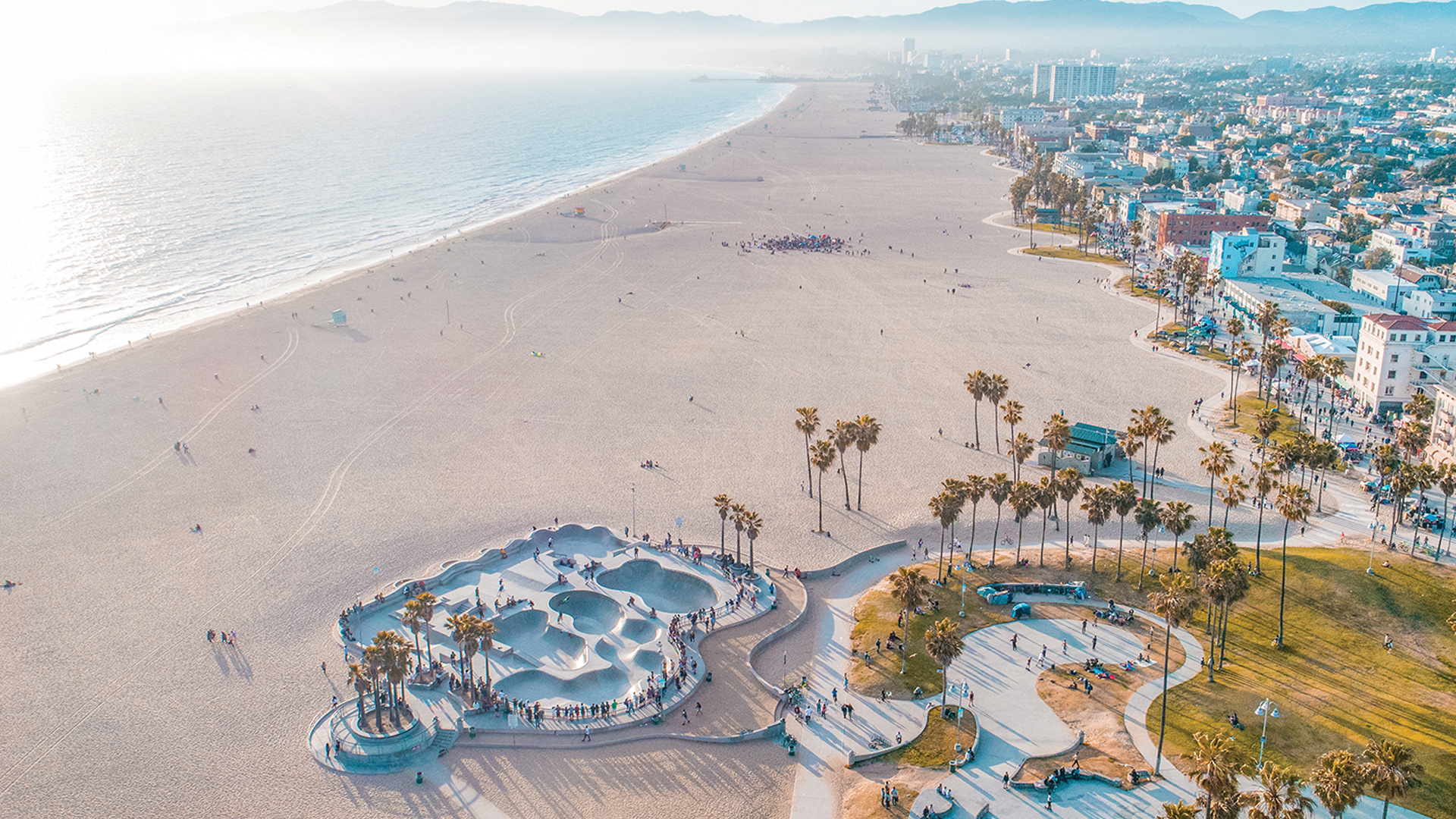 Janet Zuccarini's best things to do in Los Angeles | Aerial view of Venice Beach and boardwalk