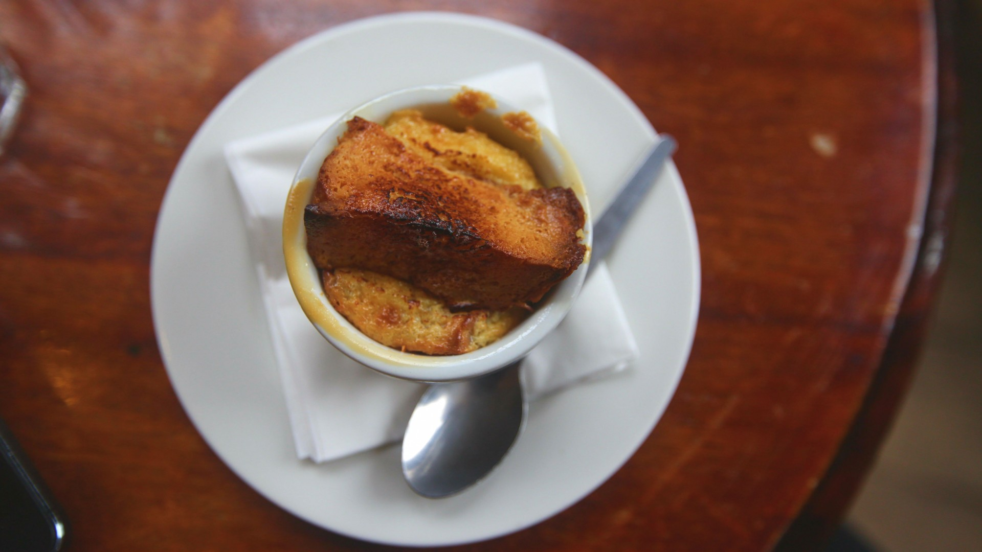 Bread and Butter Pudding at the English Restaurant