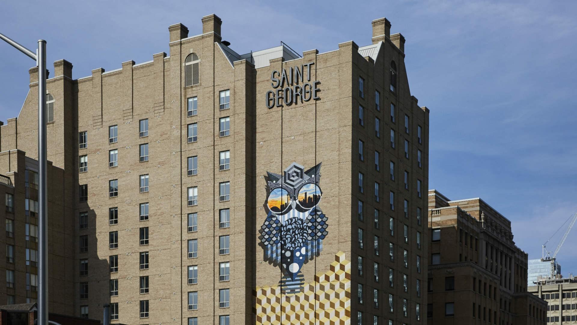 Hotel review: the Kimpton Saint George hotel, Toronto | Graffiti by BirdO on the exterior of Kimpton Saint George