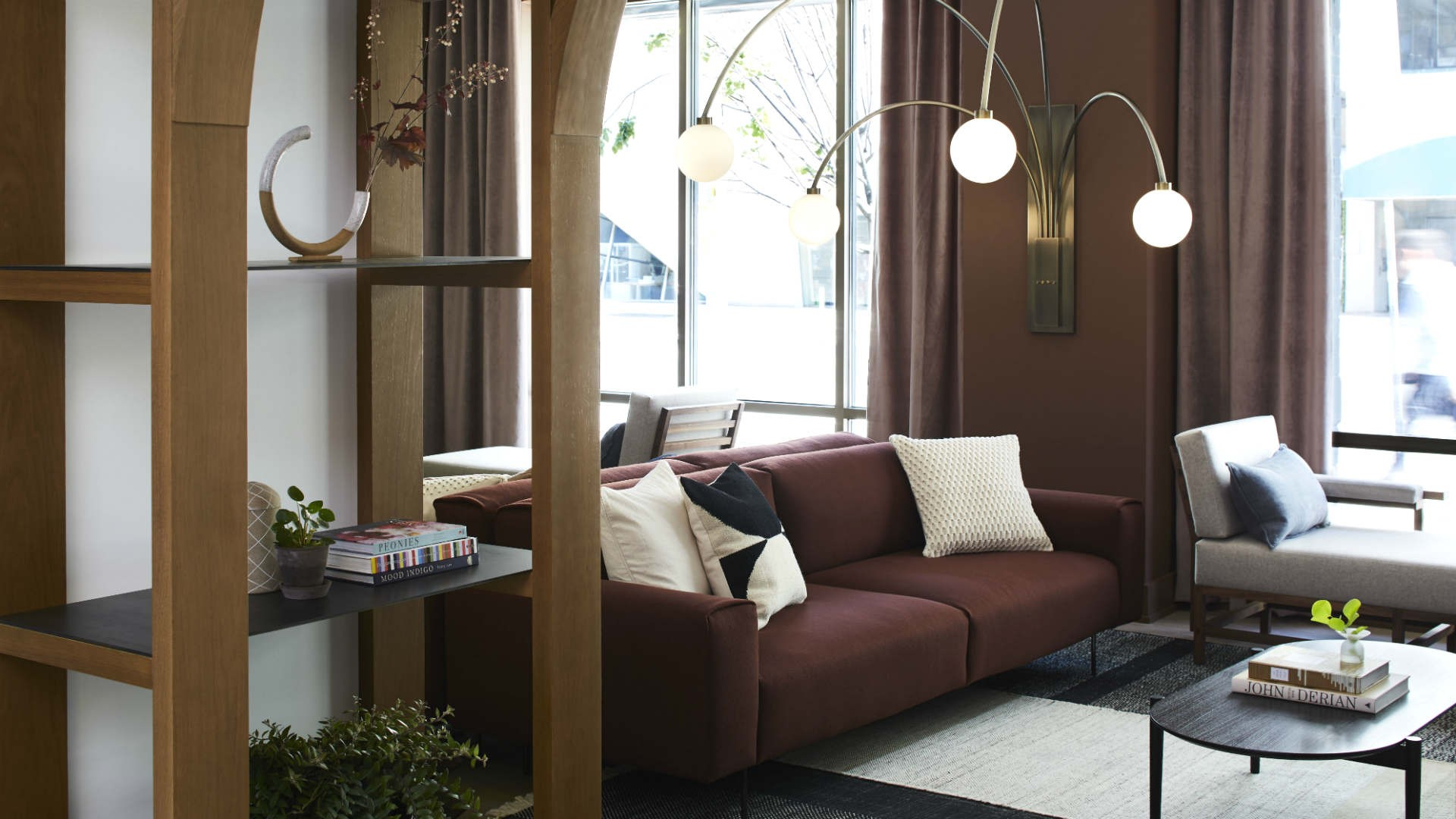 Hotel review: the Kimpton Saint George hotel, Toronto | A couch in the lobby at Kimpton Saint George