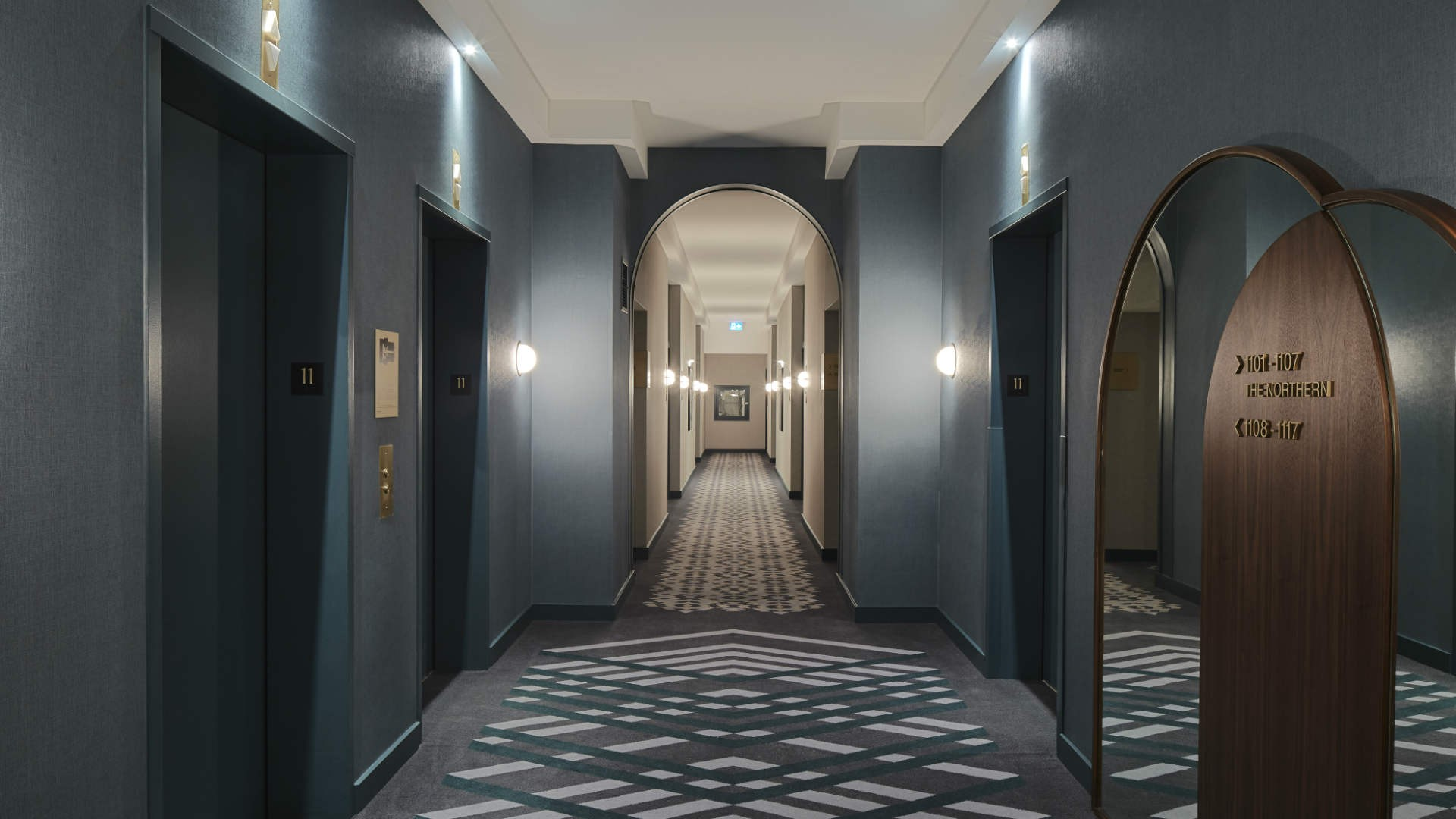 Hotel review: the Kimpton Saint George hotel, Toronto | The hallway at Kimpton Saint George