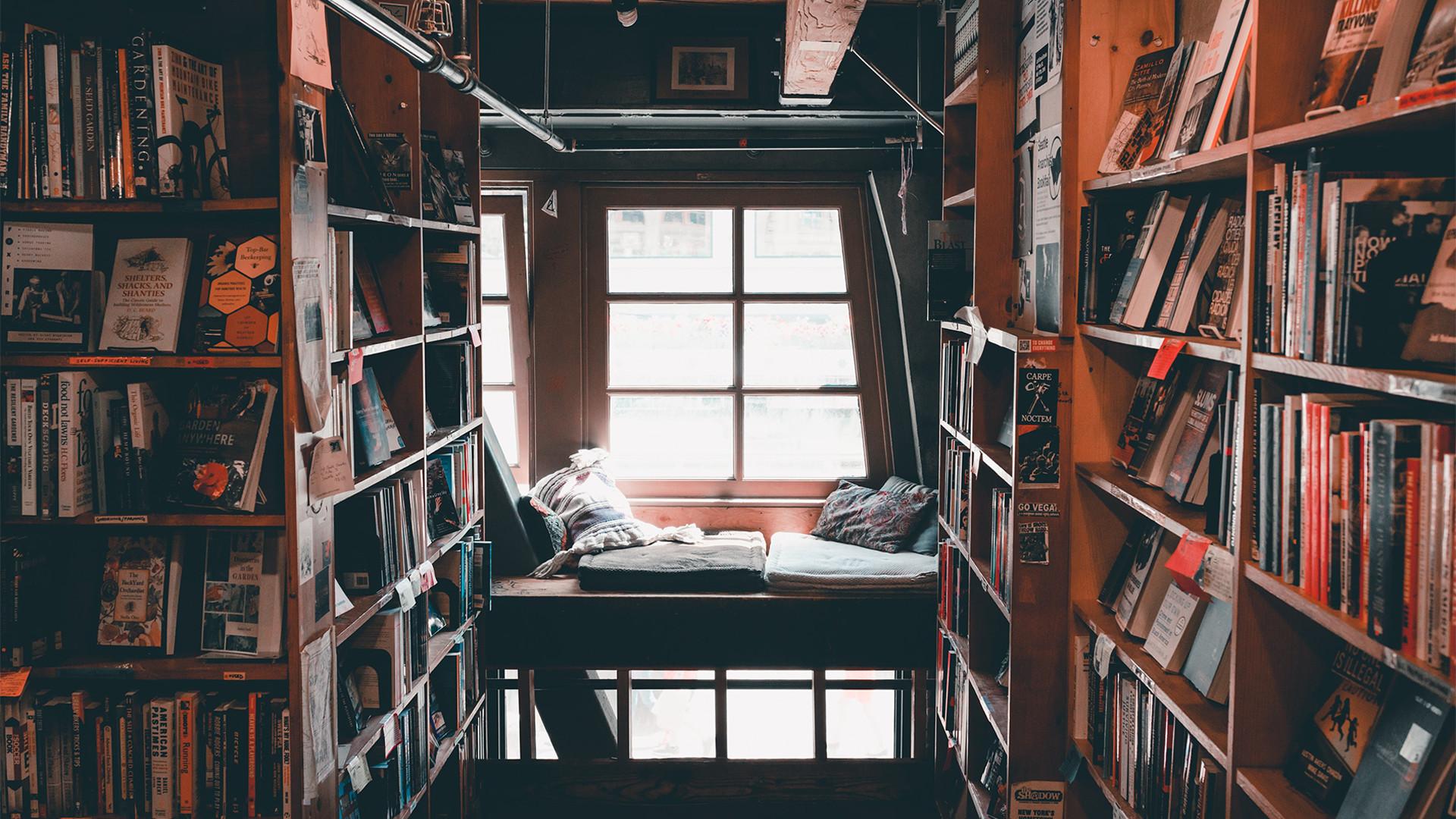 hygge bookshelf