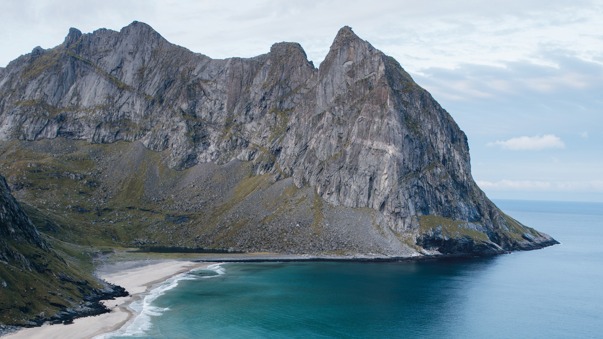 Kvalvika Beach in Norway's Lofoten Islands