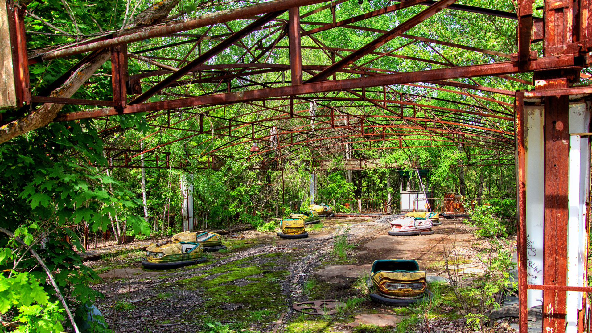Abandoned amusement park in Pripyat, Ukraine