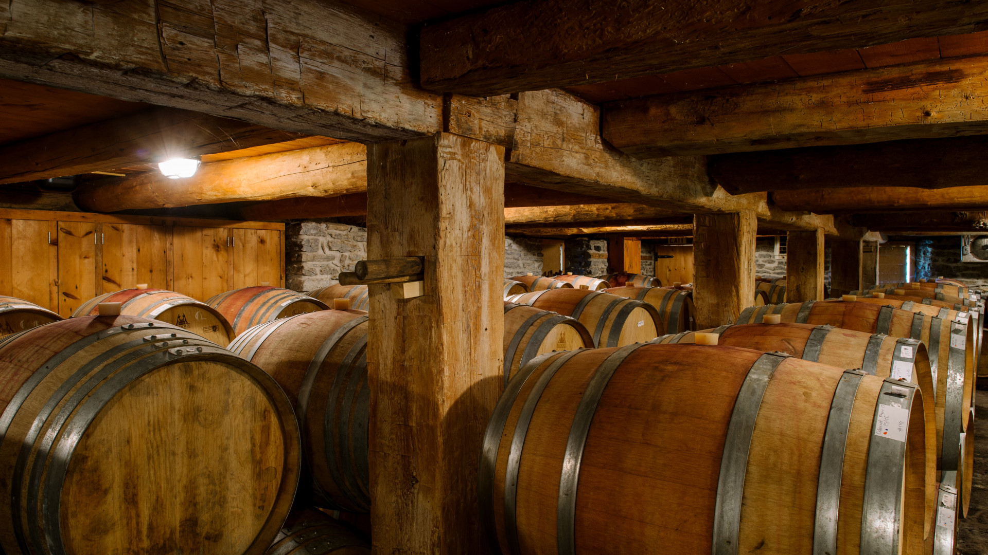 Best Prince Edward Wineries | Barrels at Grange of Prince Edward County