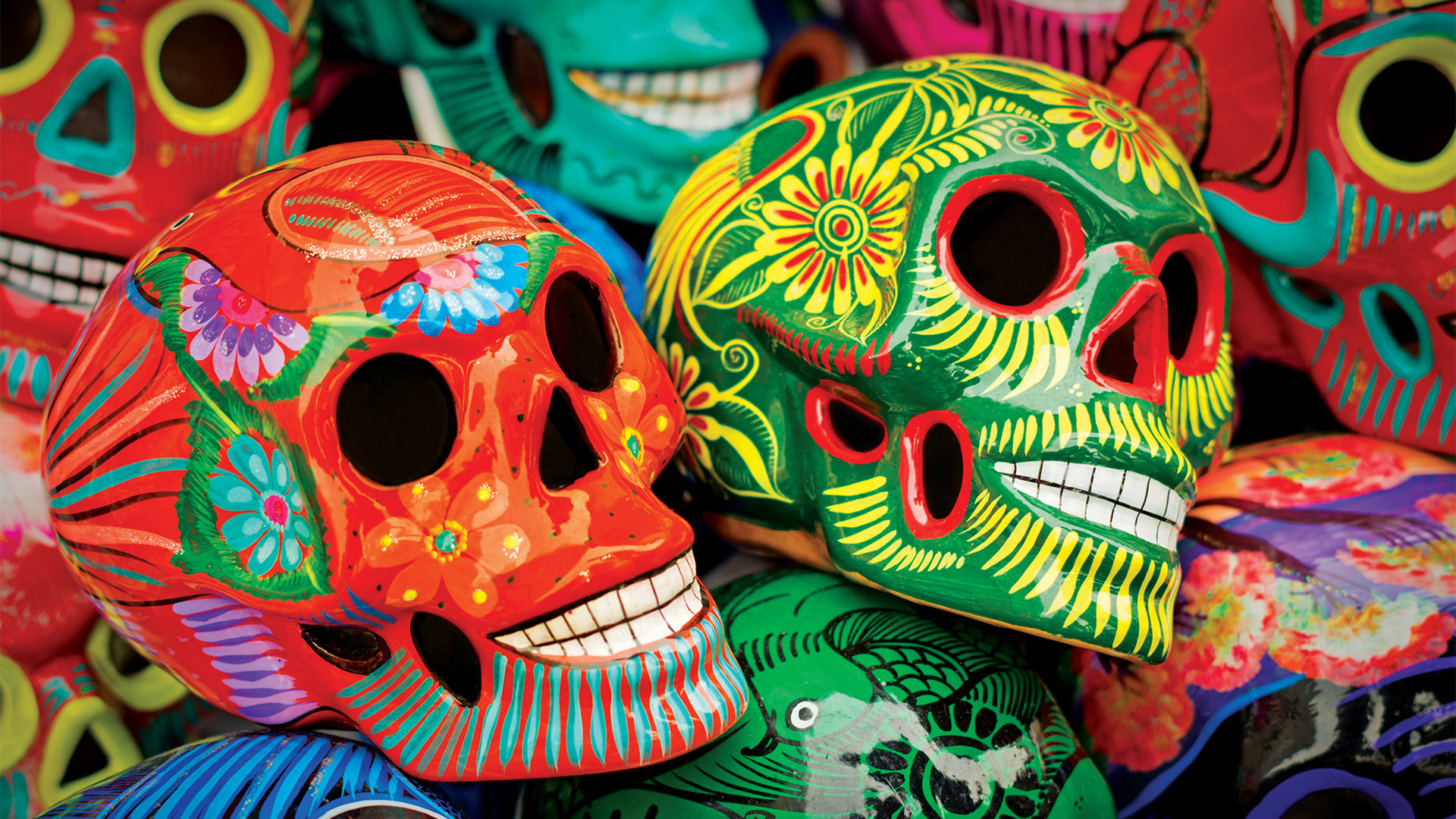 the best things to do in Mexico City on any budget | Colourful, hand painted calaveras