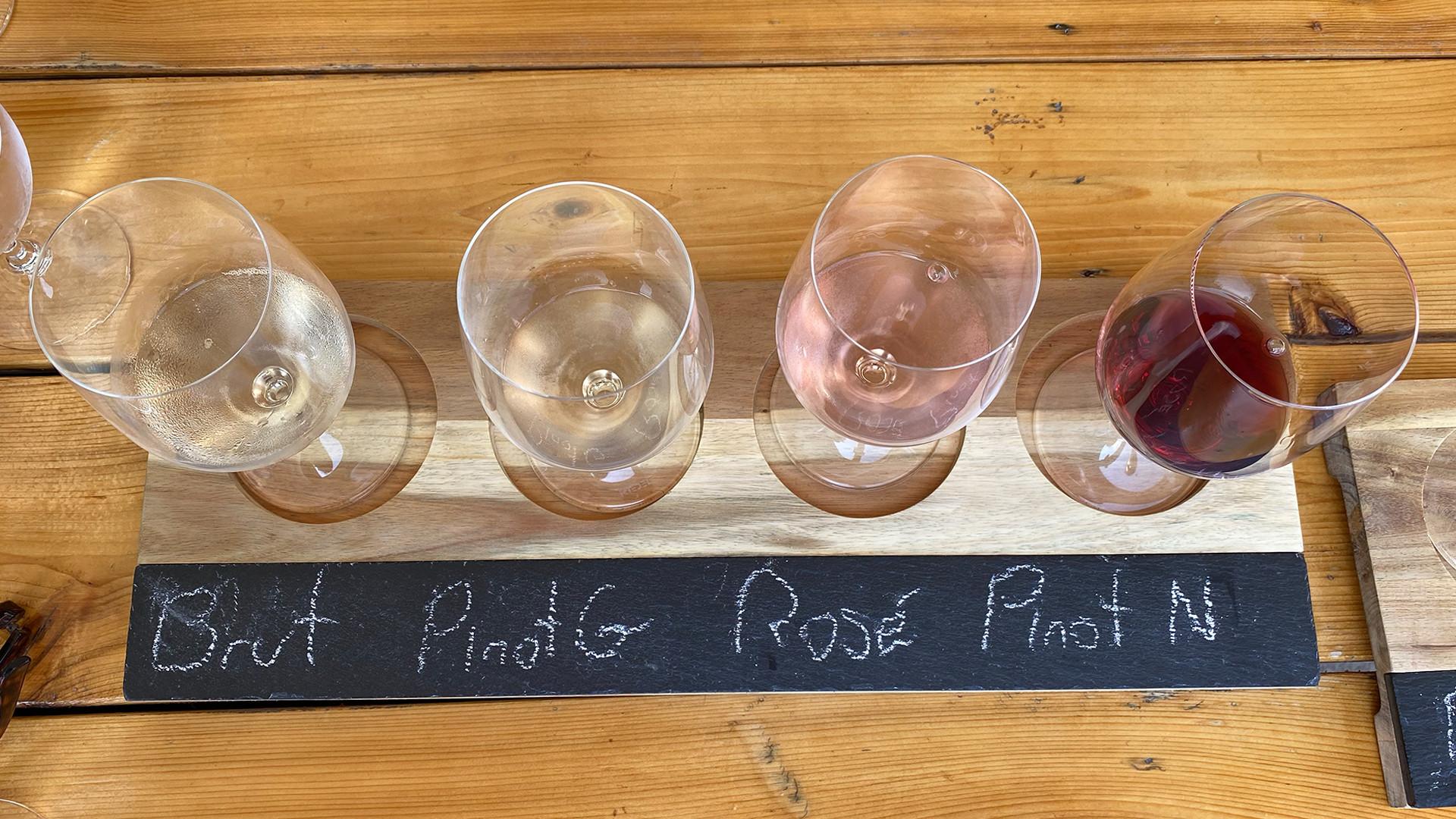 The best wineries in Niagara-on-the-Lake | Jackson-Triggs Winery wine tasting flight