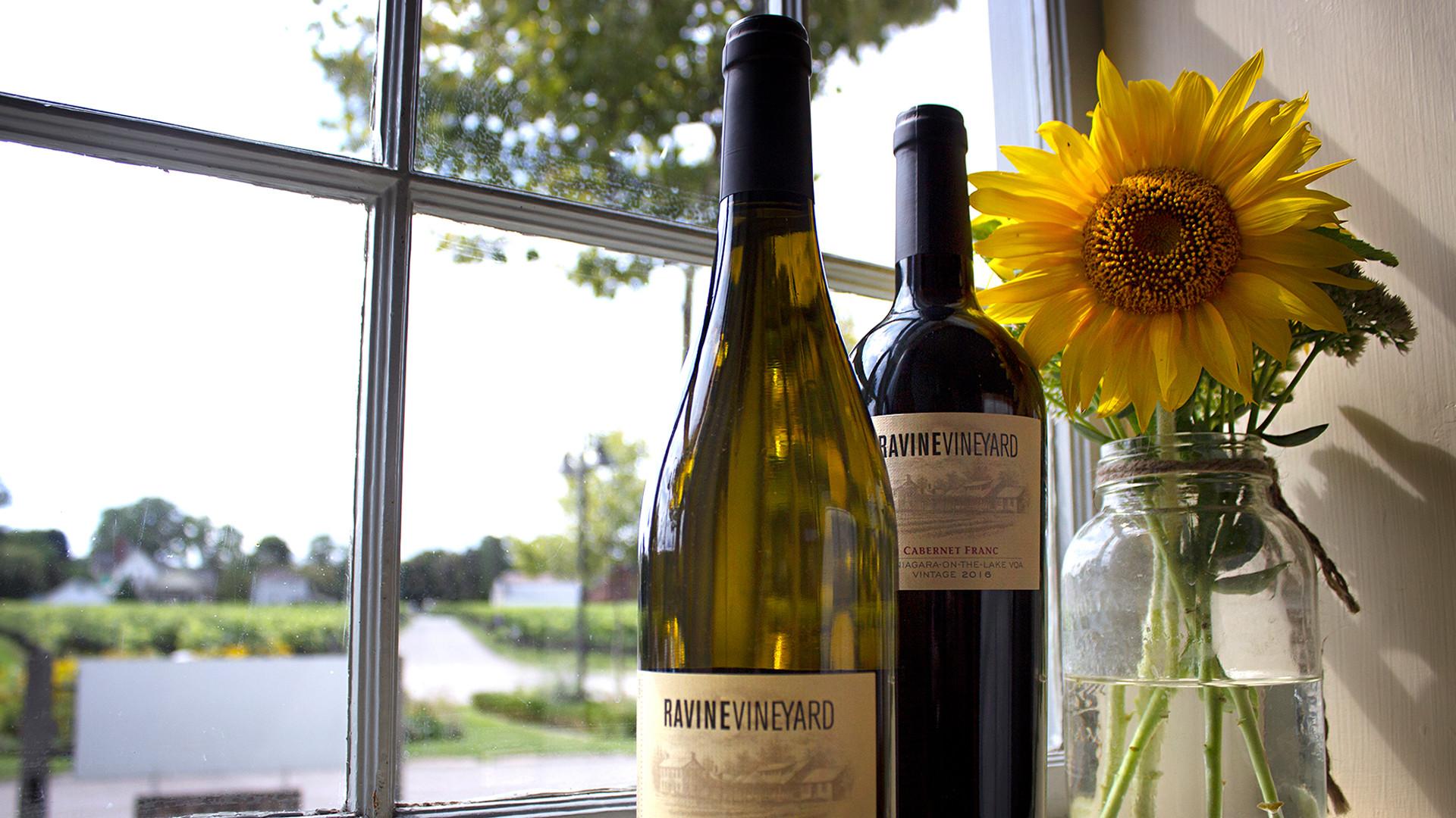 The best wineries in Niagara-on-the-Lake | Wine bottles at Ravine Vineyard Estate Winery