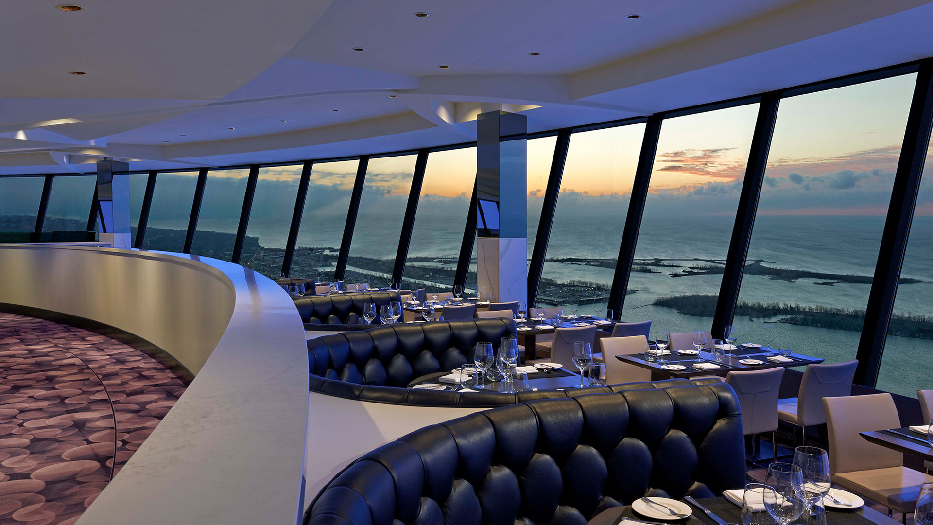 Win dinner for two at the CN Tower's 360 Restaurant | Main dinning room overlooking the lake