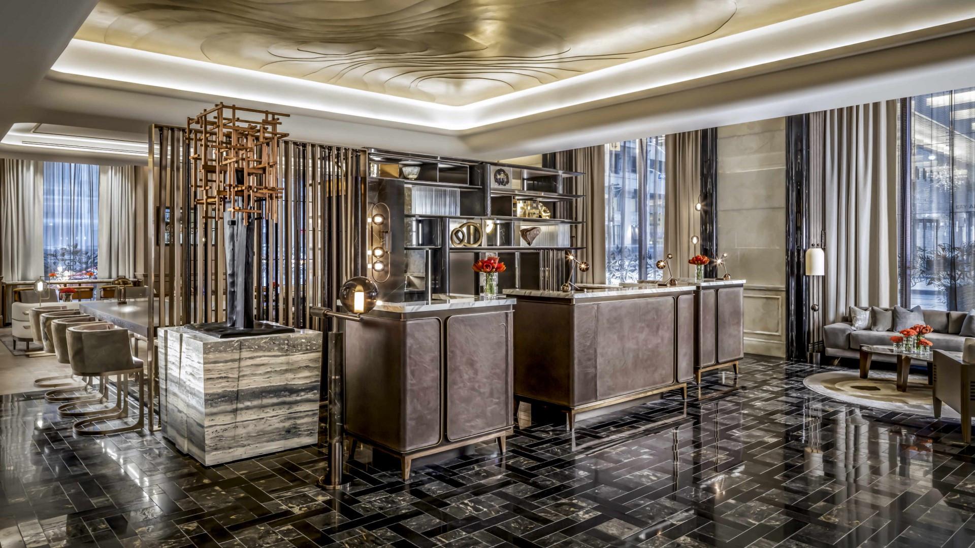 Best hotels Toronto staycation | The St. Regis Hotel main entrance lobby