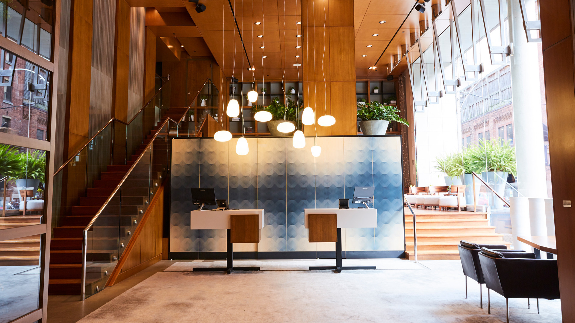 Best hotels Toronto staycation | Le Germain Hotel Toronto Mercer lobby