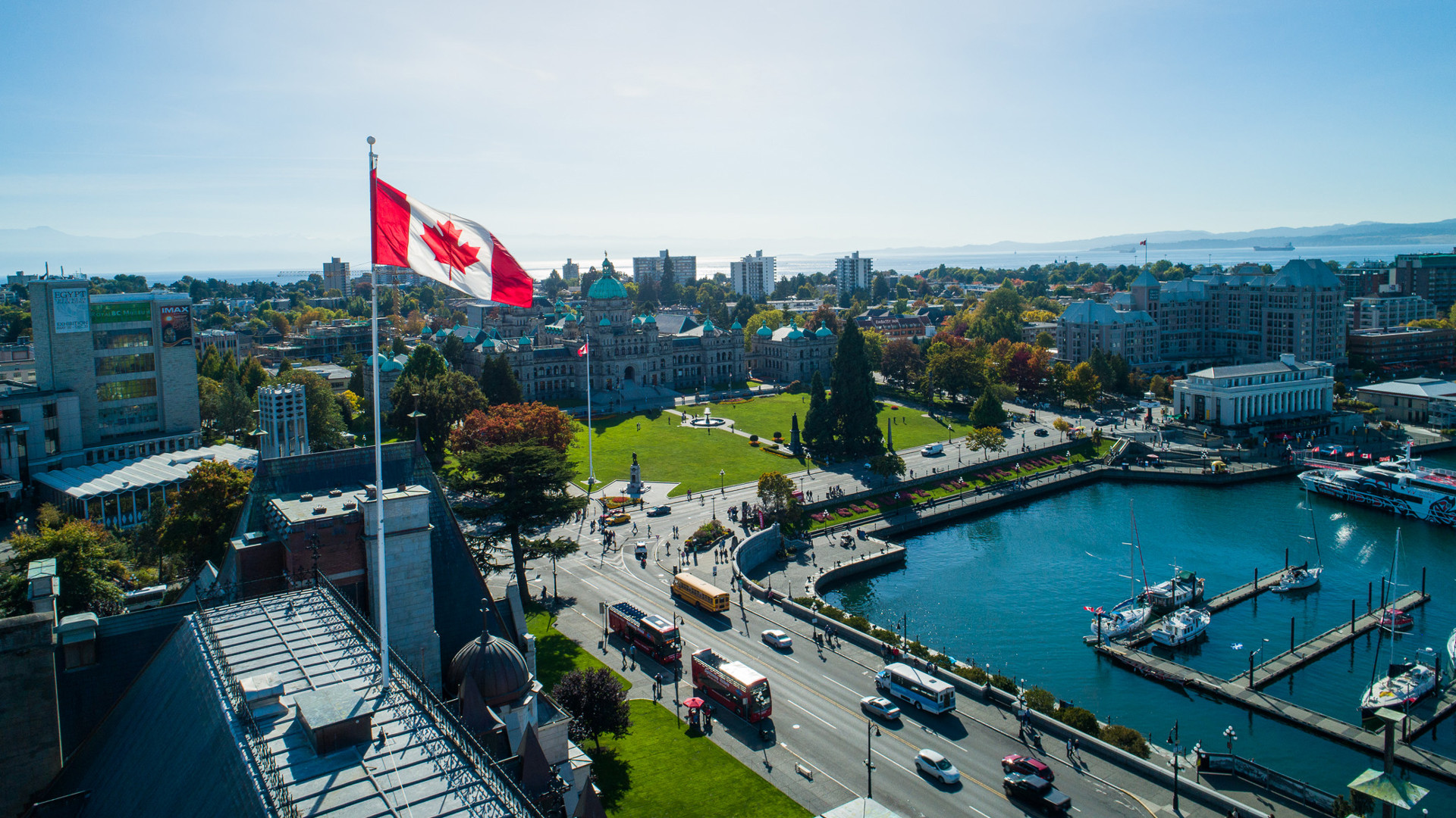 Restaurants in Victoria, B.C. plus hotels, activities and more | An overhead shot of the Inner Harbour