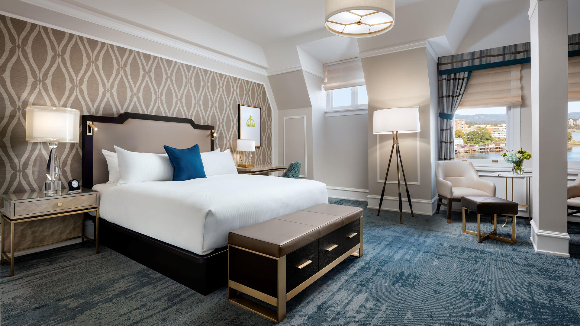 Restaurants in Victoria, B.C. plus hotels, activities and more | The Fairmont Empress Hotel Deluxe Harbor View King guest room