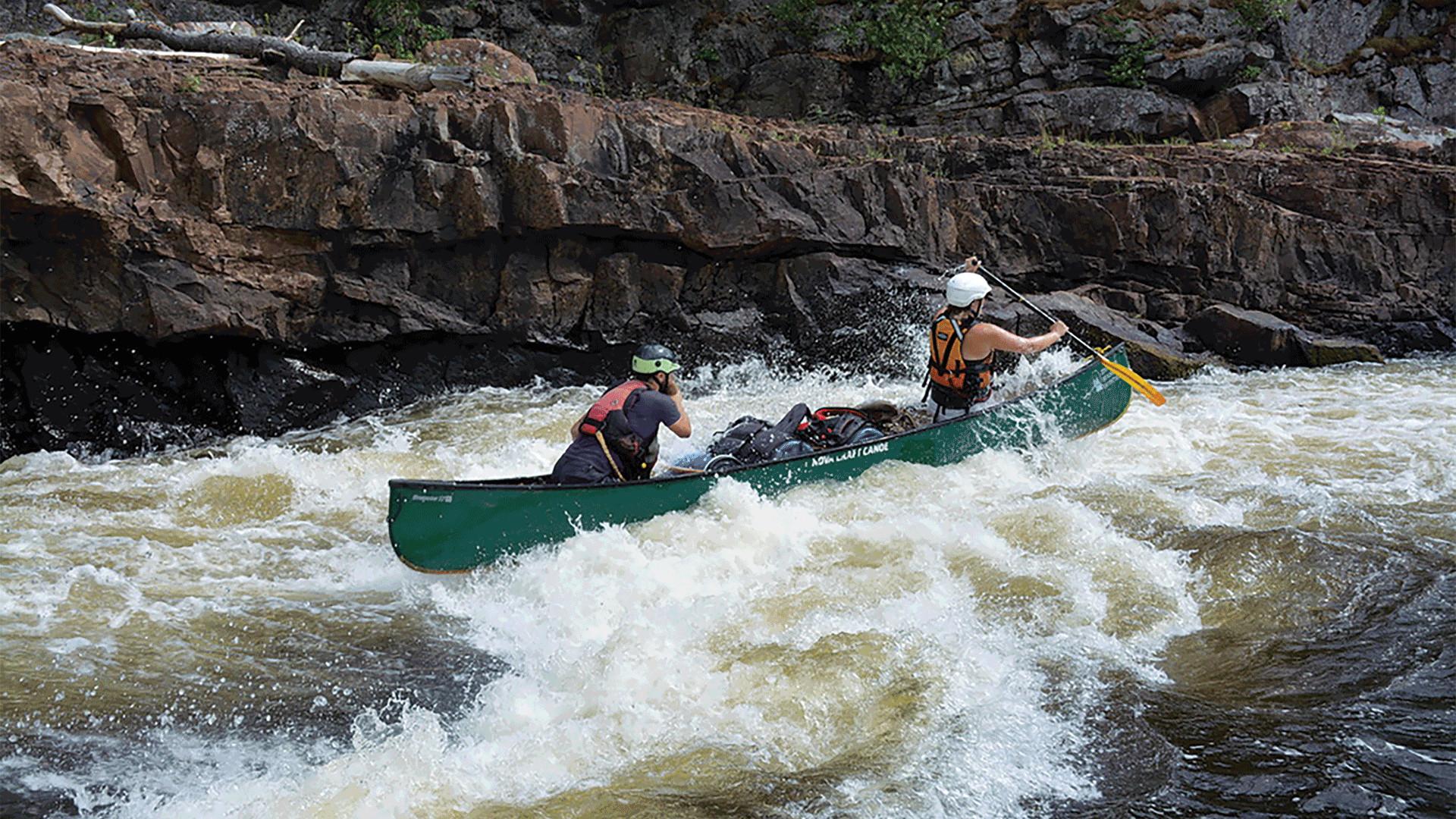 Running rapids on the Wanapitei River
