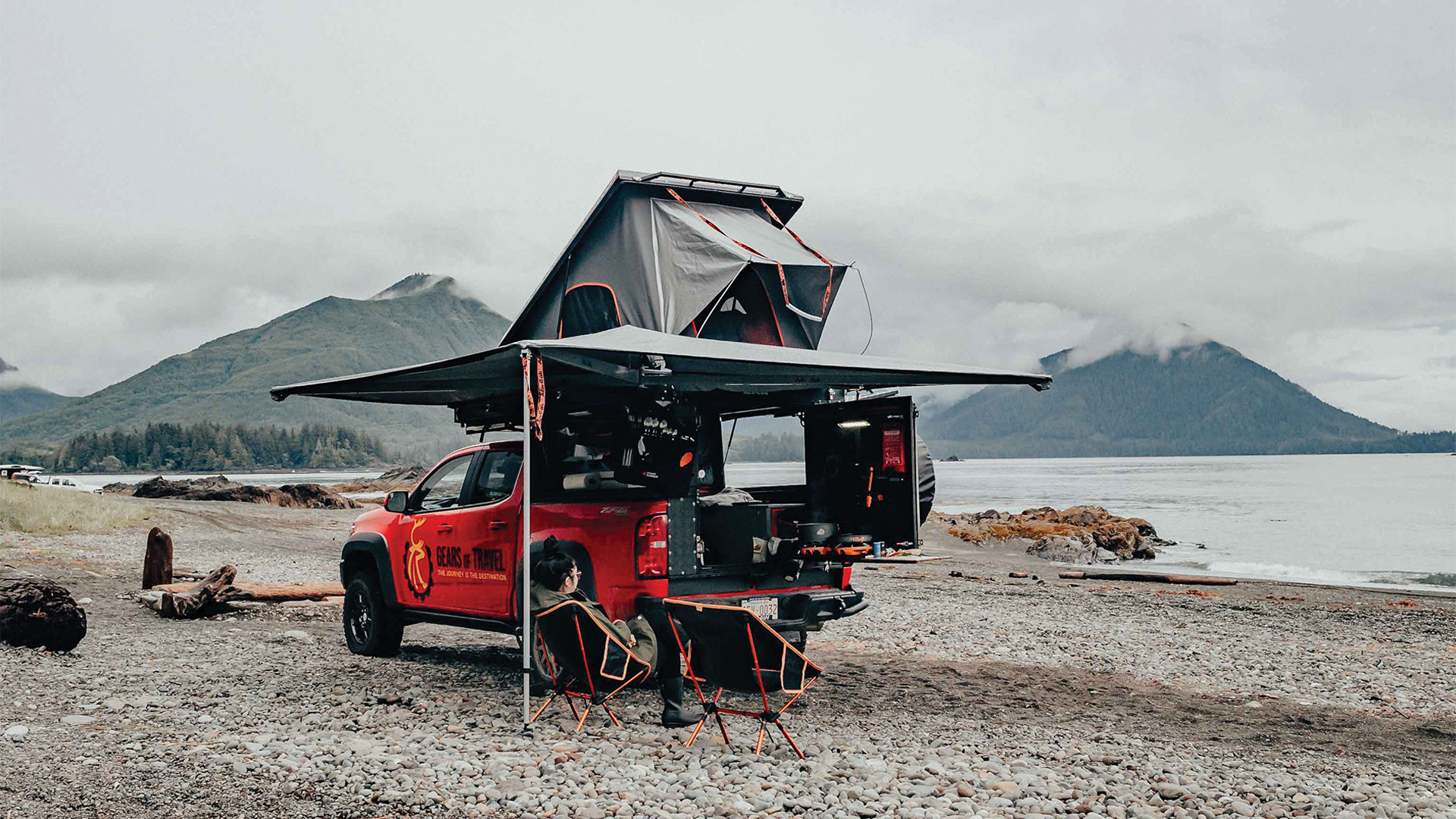 Gears of Travel, Canadian adventure | Chevrolet with extended overhead canopy camper