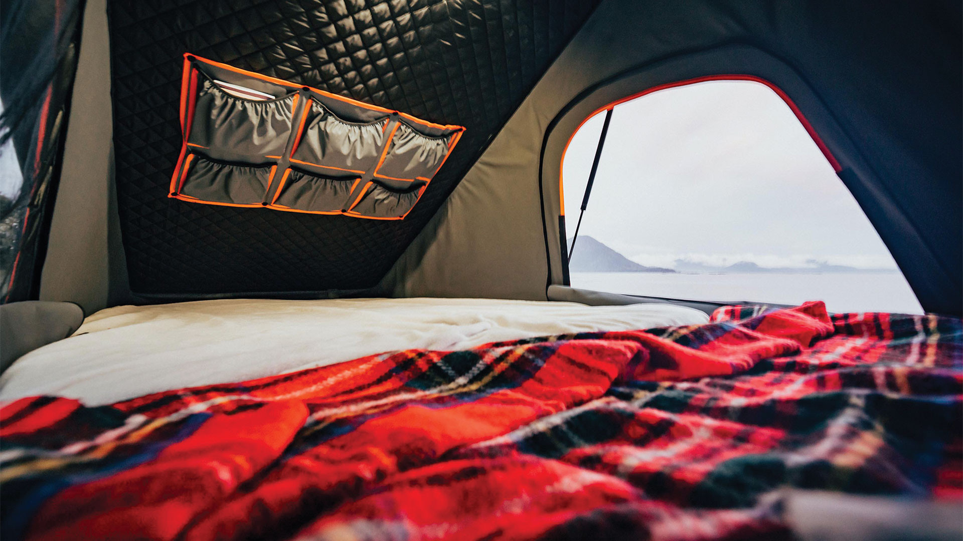Gears of Travel, Canadian adventure | Mountain view from Chevrolet canopy camper