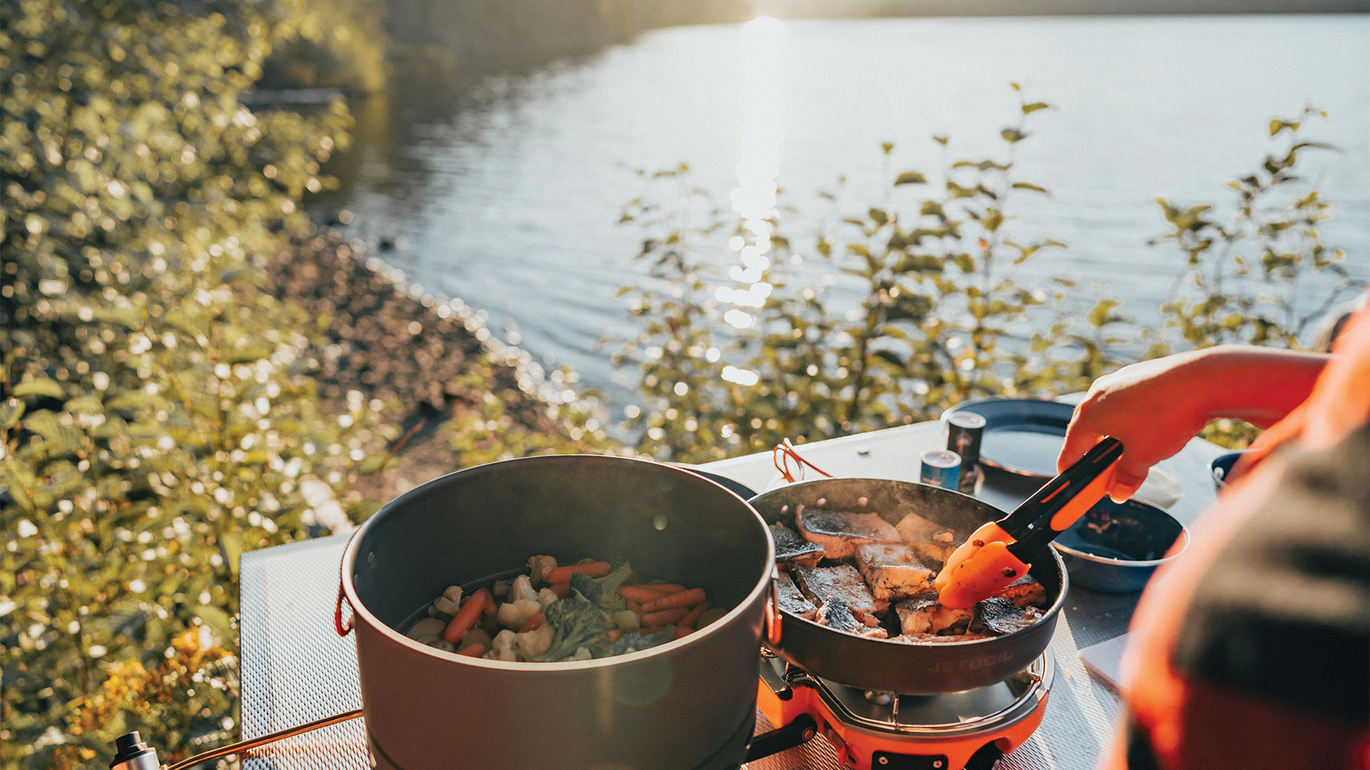 Gears of Travel, Canadian adventure | Outdoor camp cooking near lake