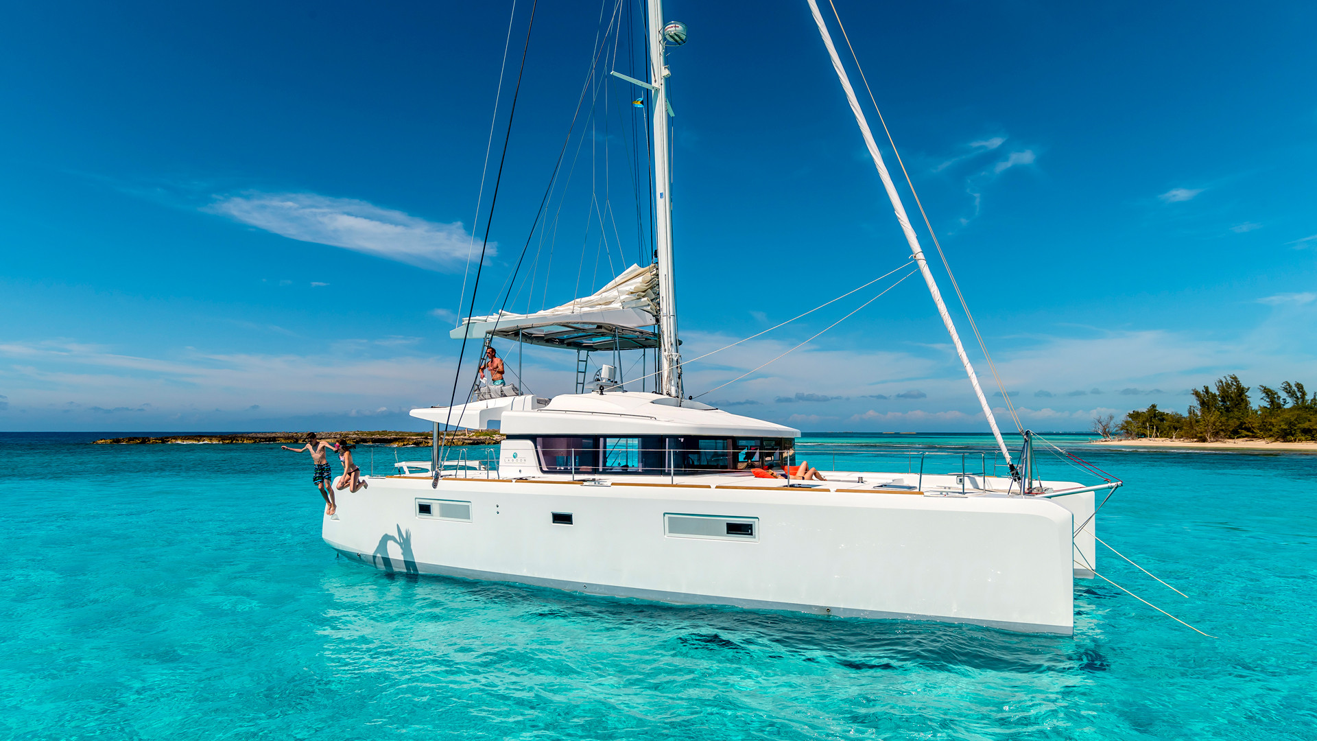 A yacht in St Vincent & the Grenadines