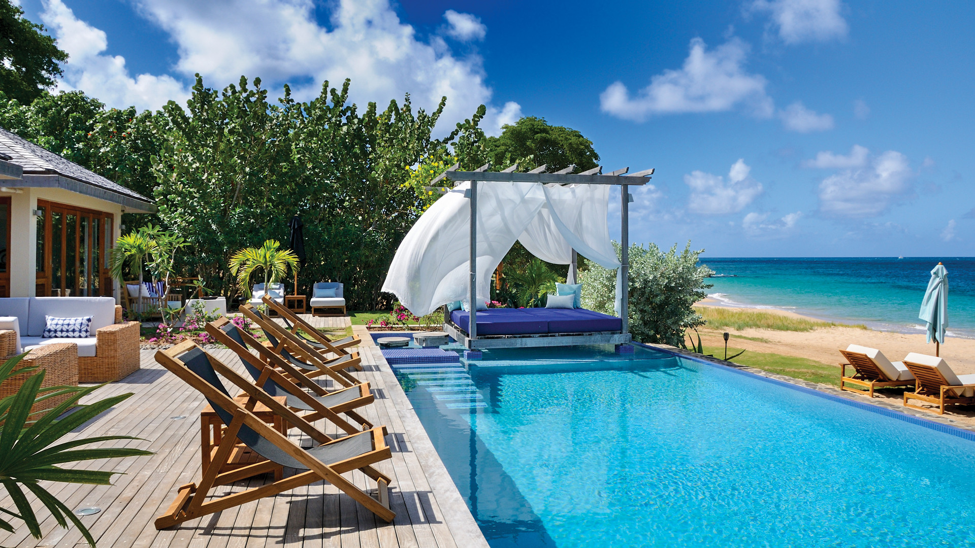 A pool in St. Vincent & the Grenadines