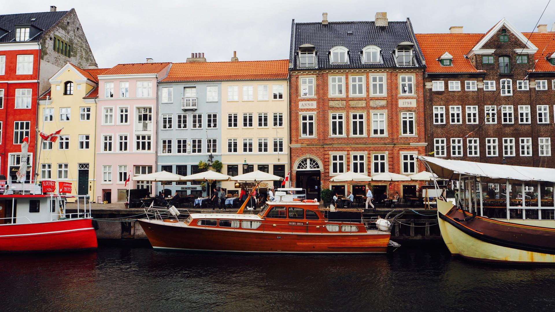 Nyhavn Harbour in Copenhagen, Denmark
