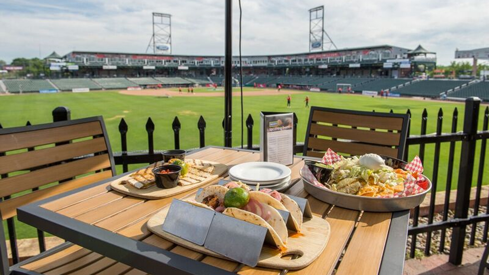 New Hampshire restaurants and activities | Sitting on the Patio at the Northeast Delta Dental Stadium