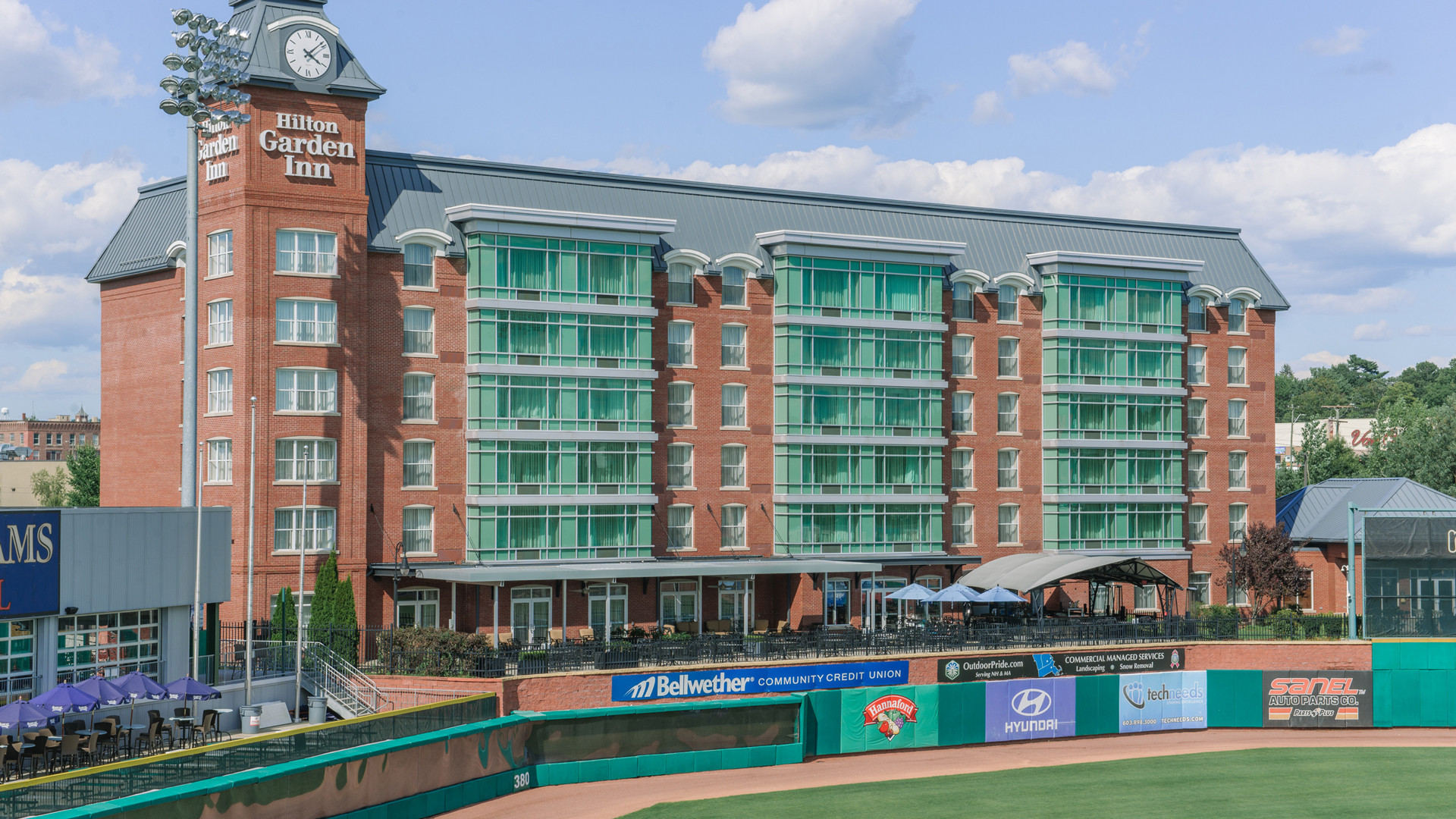 New Hampshire restaurants and activities | The Hilton Garden Inn Manchester is connected to the Northeast Delta Dental Stadium