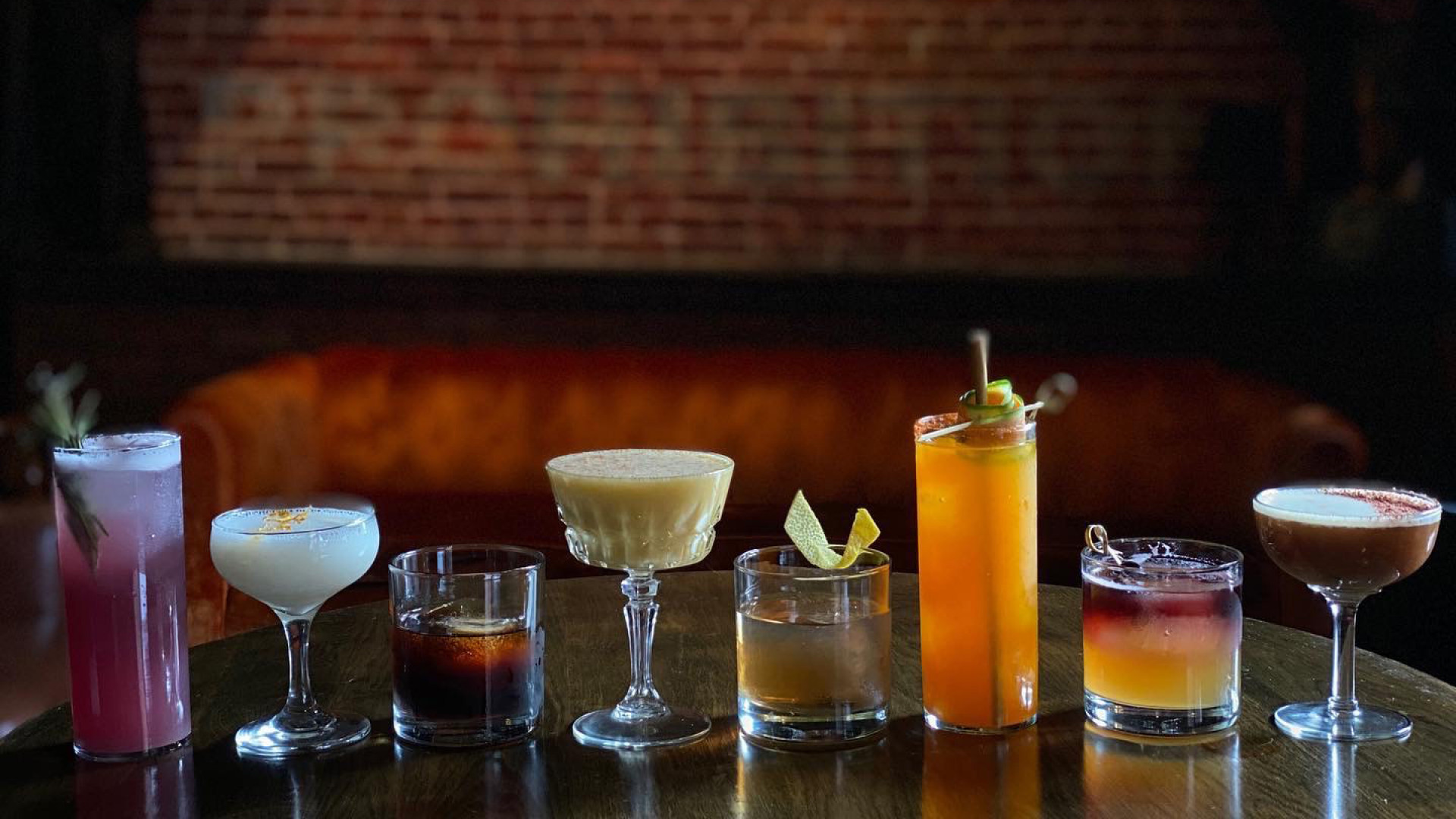 New Hampshire restaurants and activities | A lineup of cocktails at 815 Cocktails and Provisions in Manchester