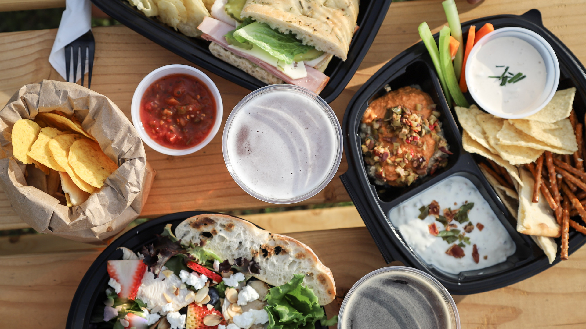 New Hampshire restaurants and activities | Sandwiches and snacks at Tuckerman Brewing in Conway New Hampshire
