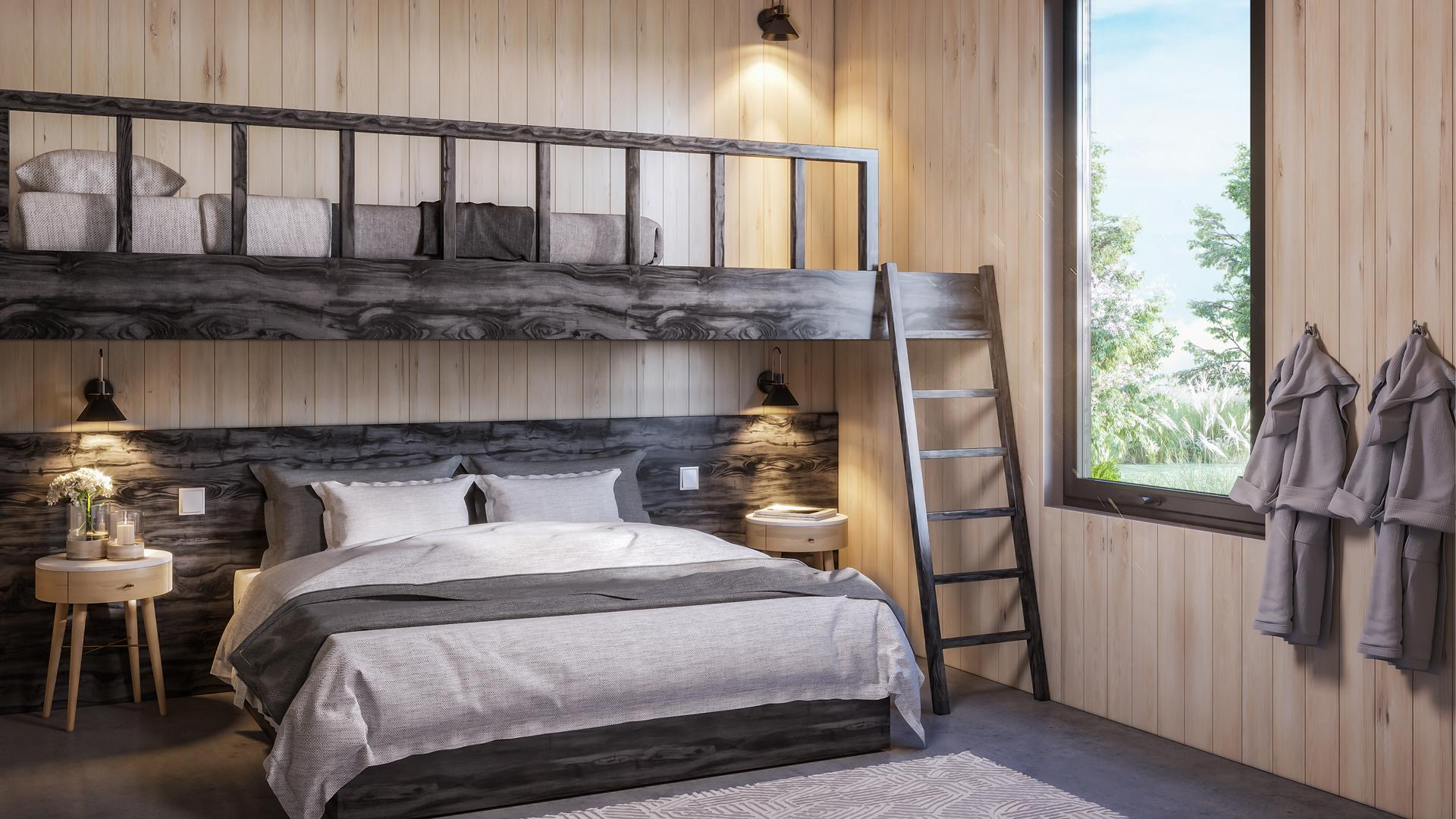 Ontario's coolest cabins to rent | A bunk bed inside a cabin at Wander resort in Prince Edward County, Ontario