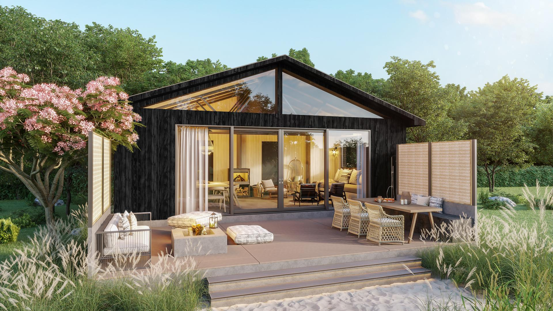 Ontario's coolest cabins to rent | Outside a cabin at Wander resort in Prince Edward County, Ontario