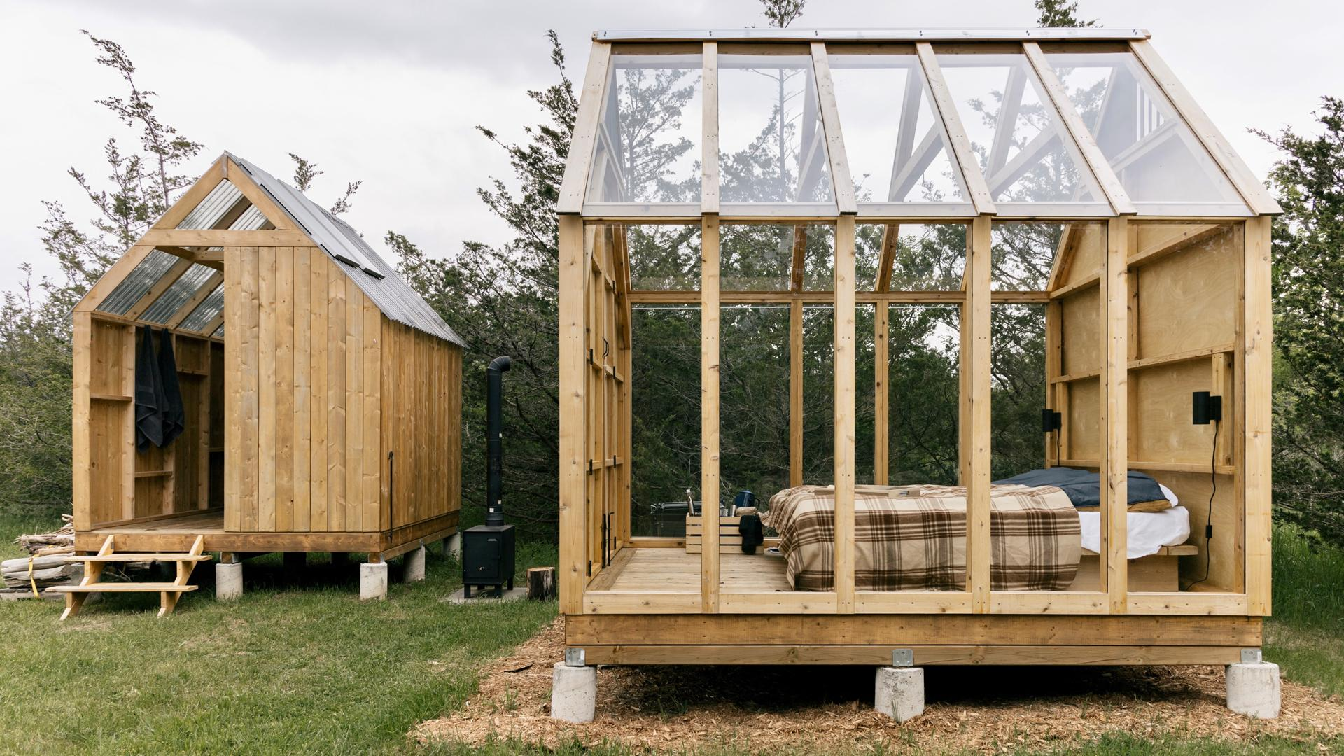 Ontario's coolest cabins to rent | The Edward's Skyward cabin has glass walls and a glass roof for stargazing