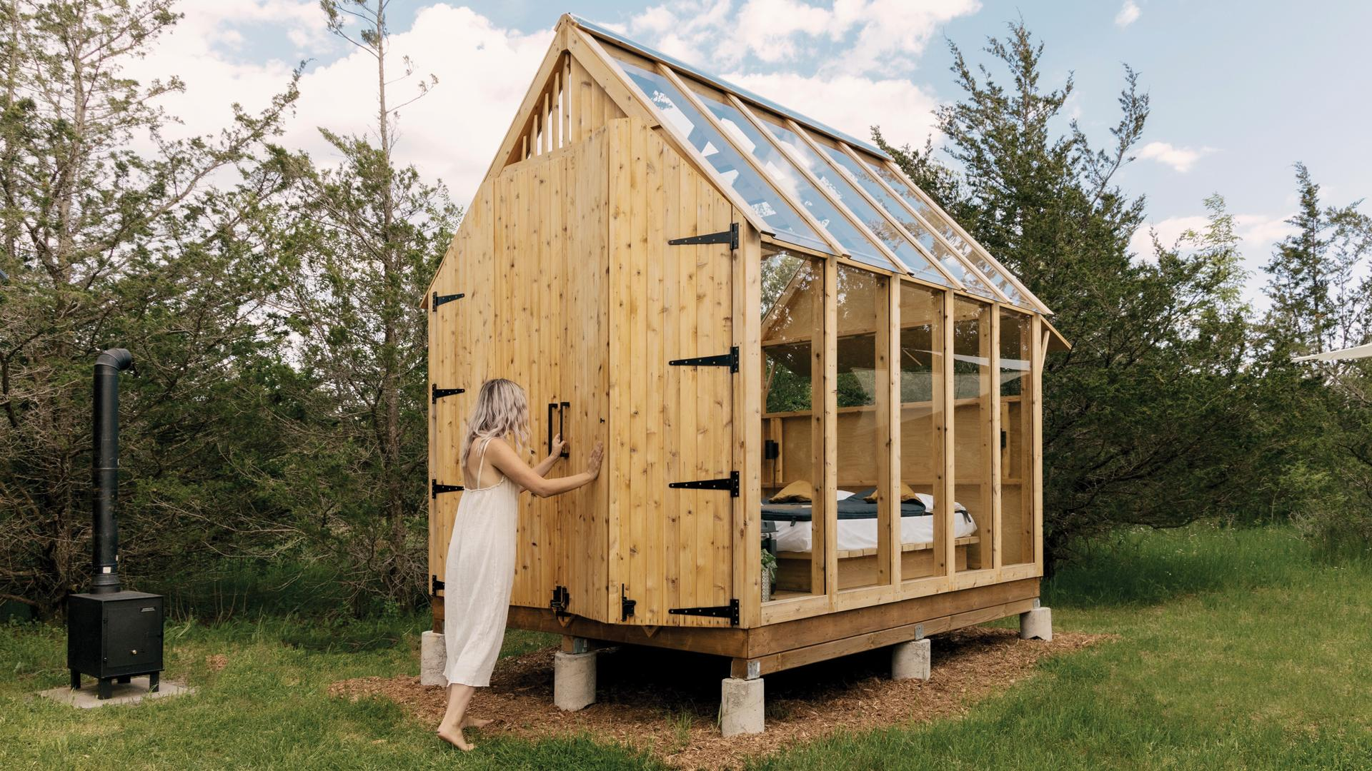 Ontario's coolest cabins to rent | Outside the Edward's Skyward cabin in Prince Edward County