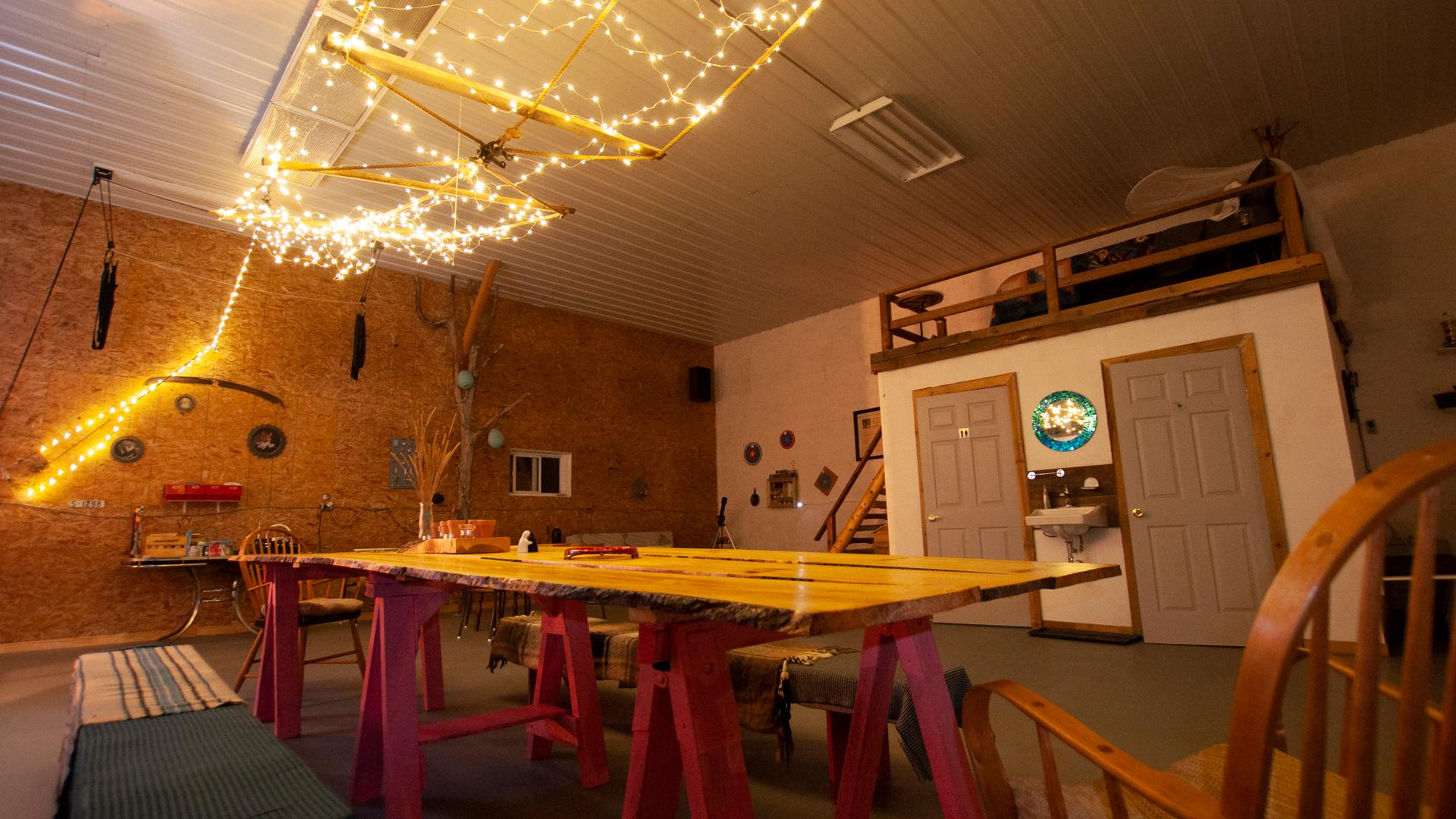 Ontario's coolest cabins to rent | Twinkle lights hang overhead in the Freija Forest Loft