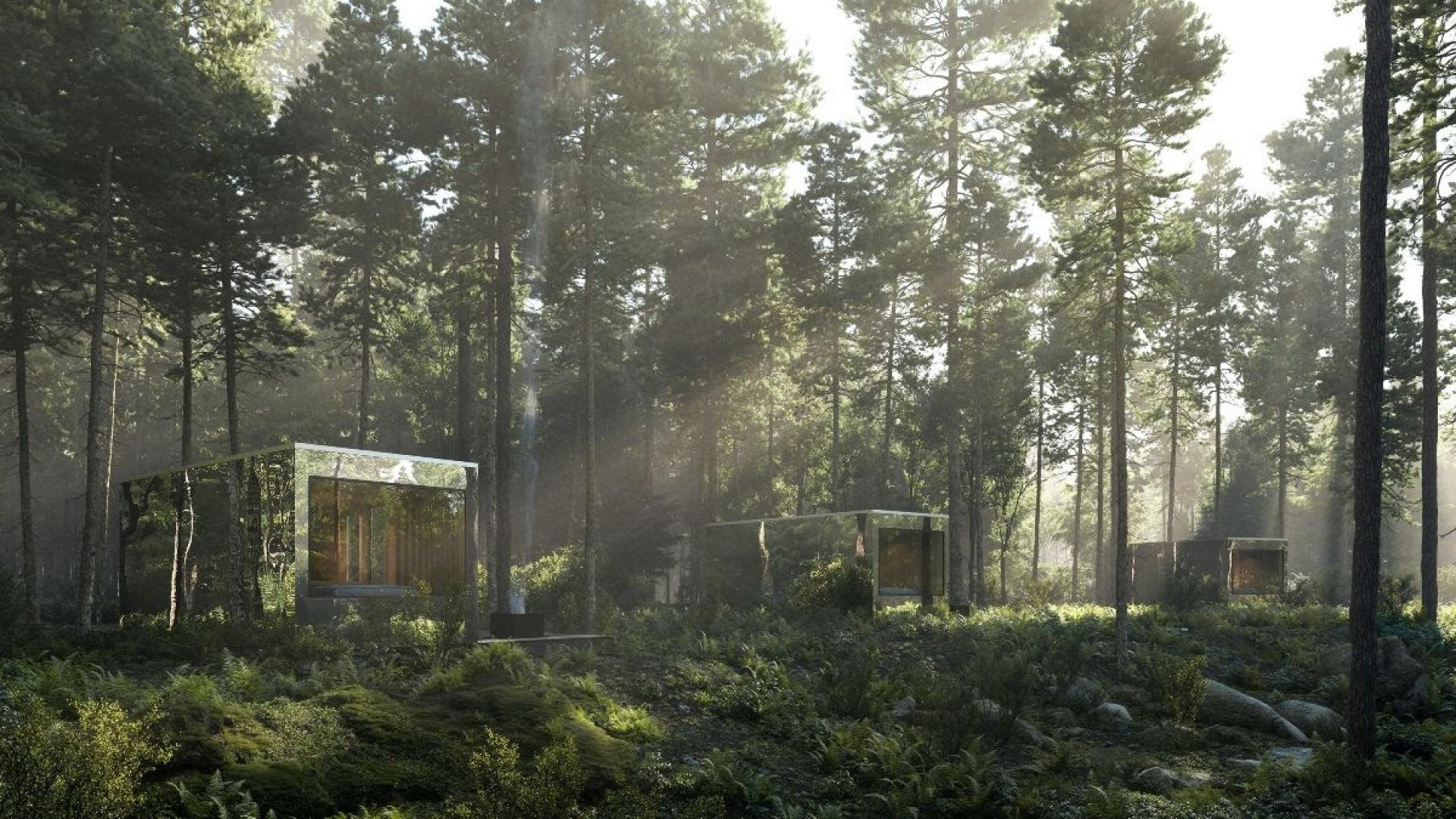 Arcana self-directed nature retreat opens in Ontario | A cluster of stainless steel cabins at Arcana