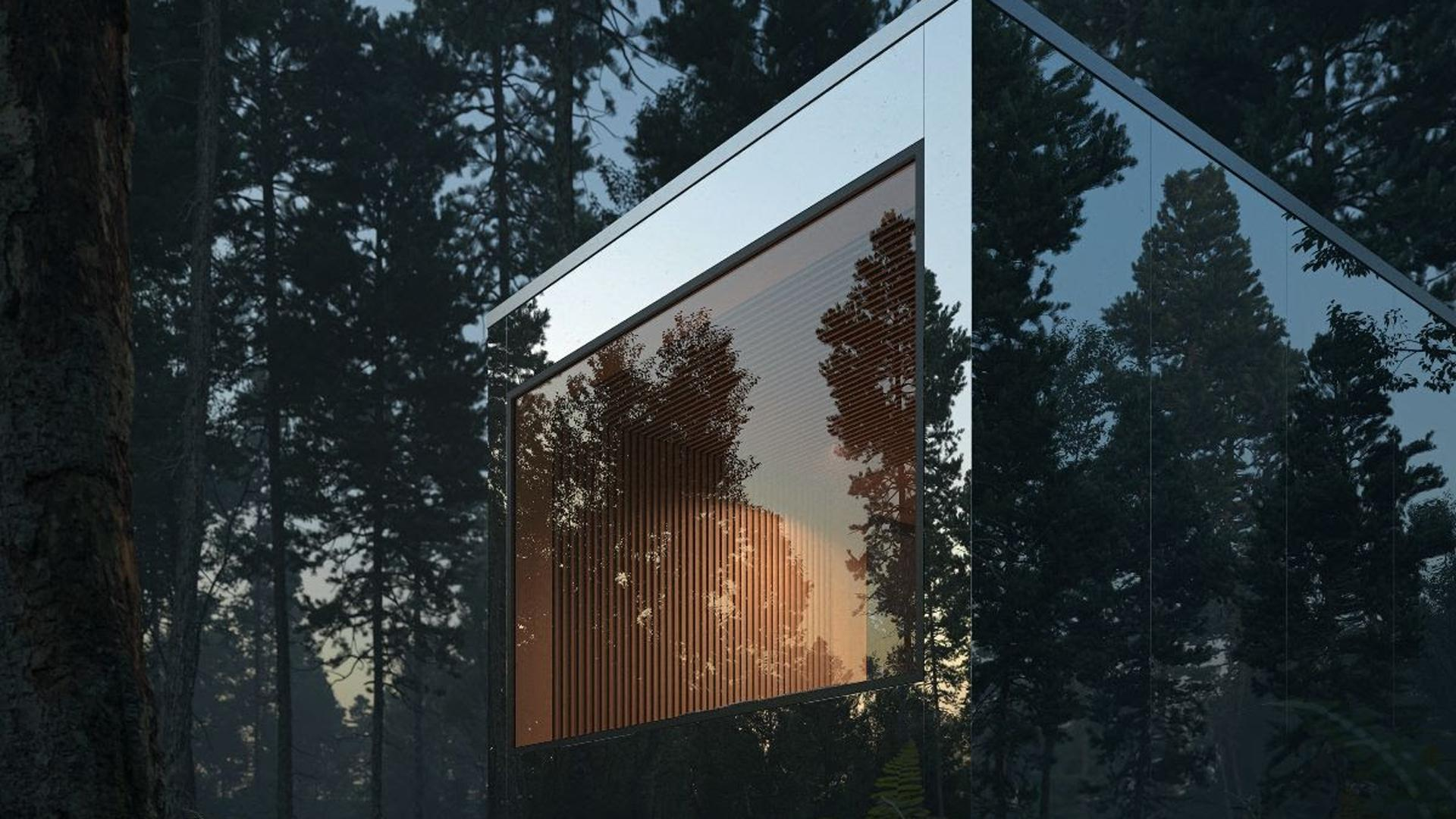 Arcana self-directed nature retreat opens in Ontario | Night falls on an Arcana cabin