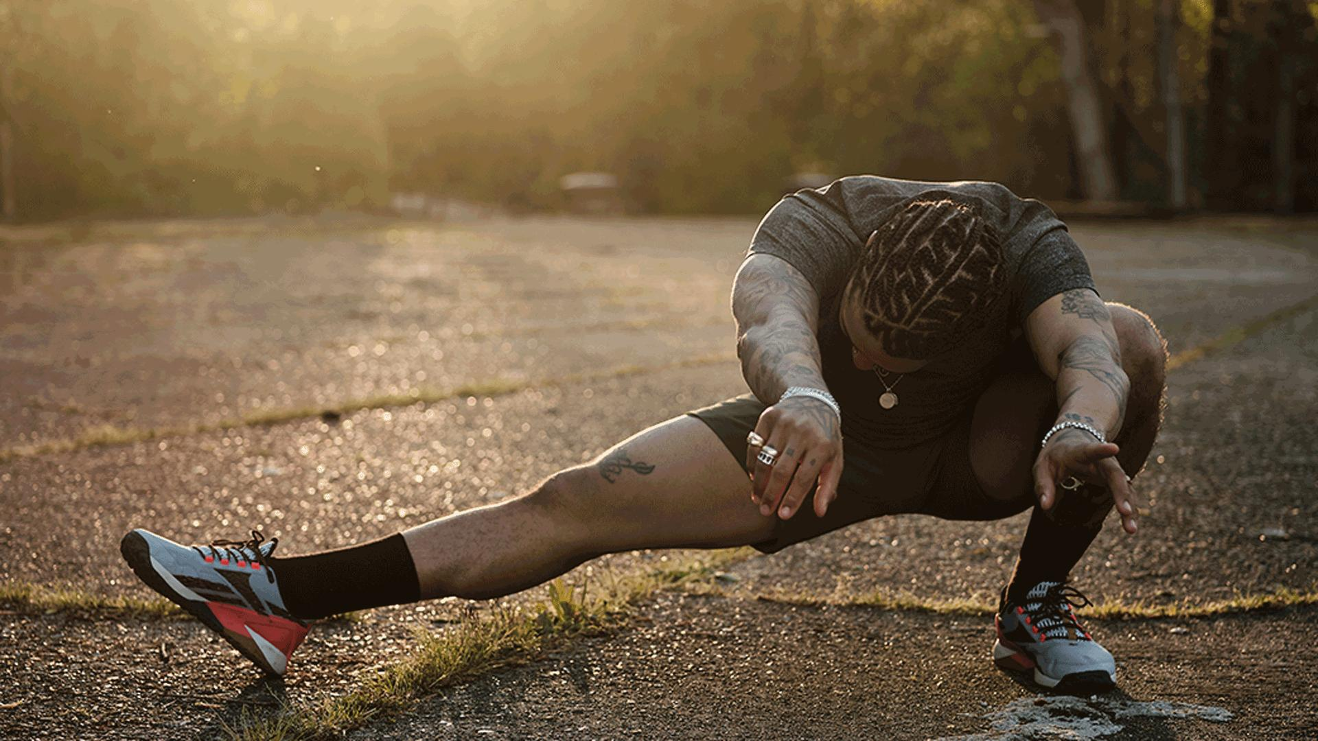 Reebok's Nano X1 Adventure training shoe | An athlete exercising outdoors