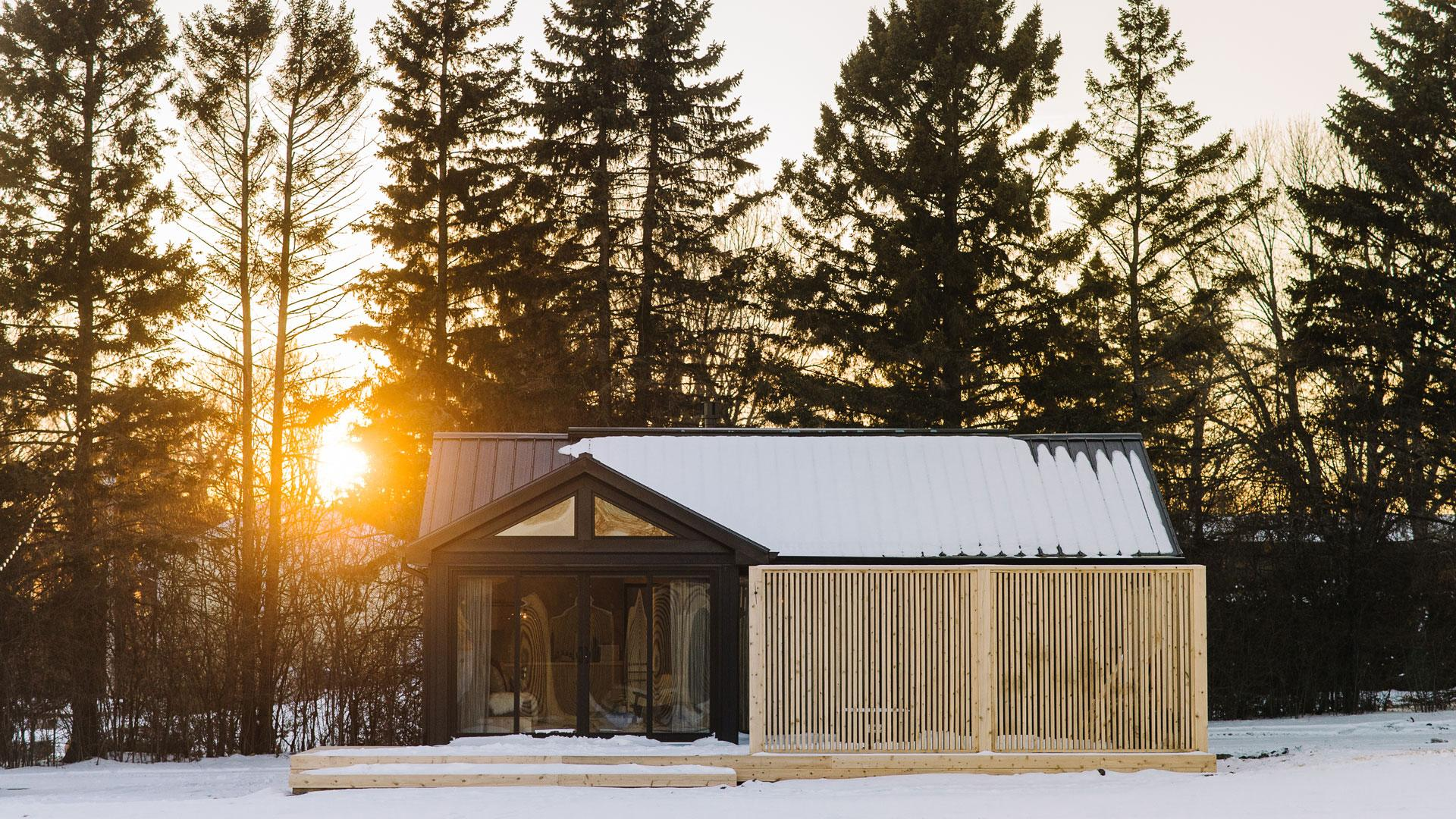 Wander the Resort in Prince Edward County | Cabin in the winter