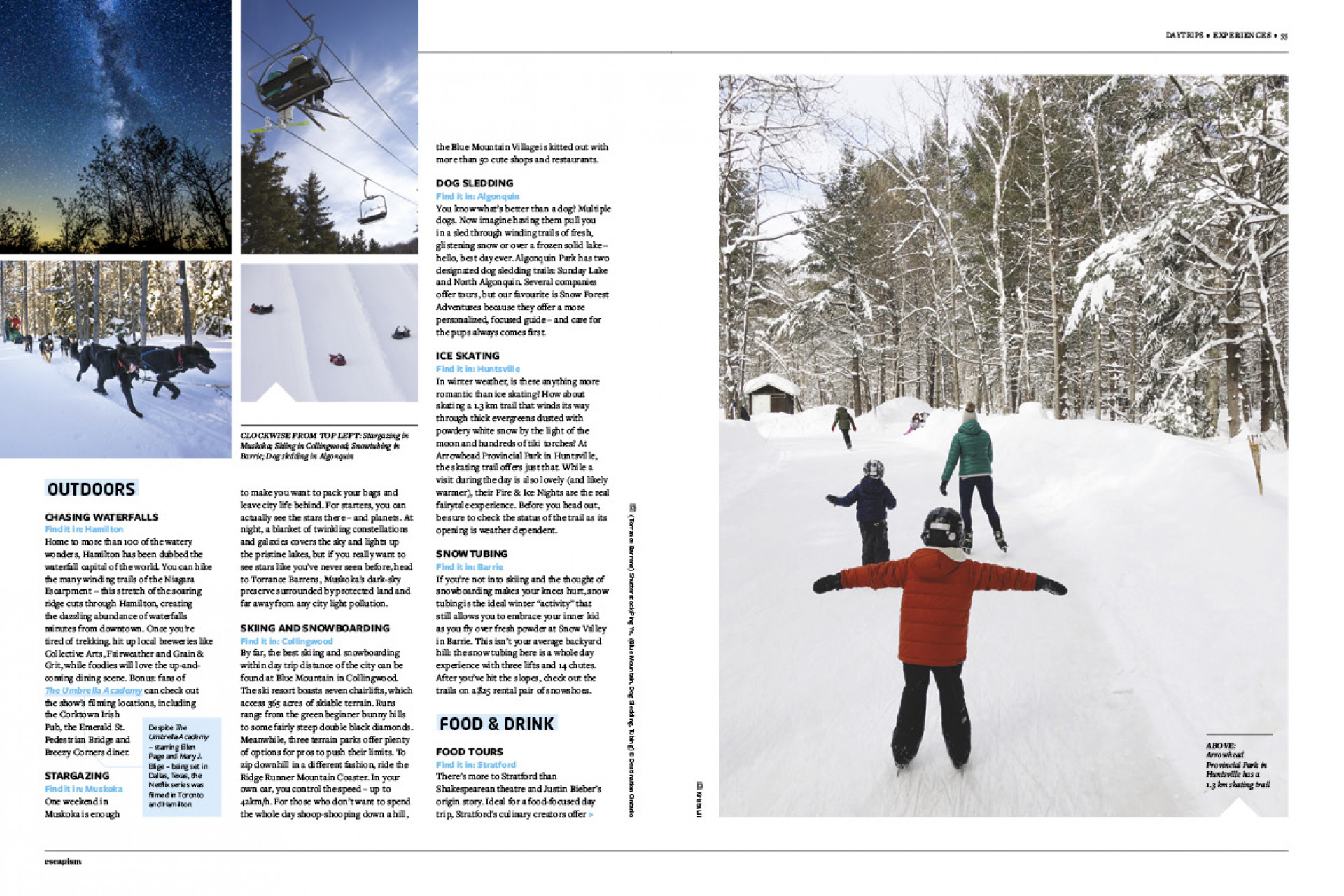 Escapism 10 – The Great Canadian Issue | The best day trips from Toronto feature pages 2-3