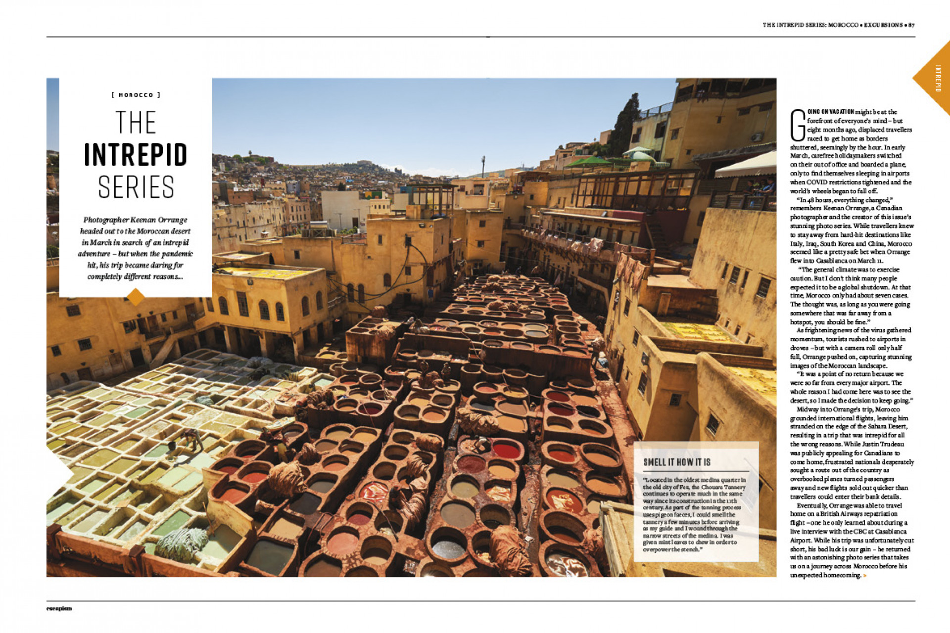 Escapism 10 – The Great Canadian Issue | A photo series from Morocco pages 1-2