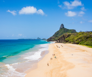 Brazil's Fernando de Noronha islands reopen COVID-19 | Cacimba do Padre beach and Morro do Pico