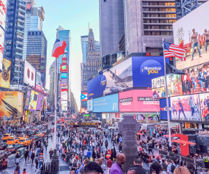 New York City's Times Square, a new Covid-19 vaccine hub for tourists