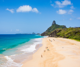 Brazil's Fernando de Noronha islands reopen COVID-19 | Cacimba do Padre beach and Morro do Pico
