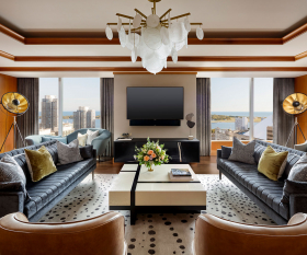 The Ritz-Carlton Hotel Toronto   Living room of suite overlooking the lake