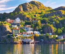 St. John's, Newfoundland and Labrador | The Battery neighbourhood on Signal Hill